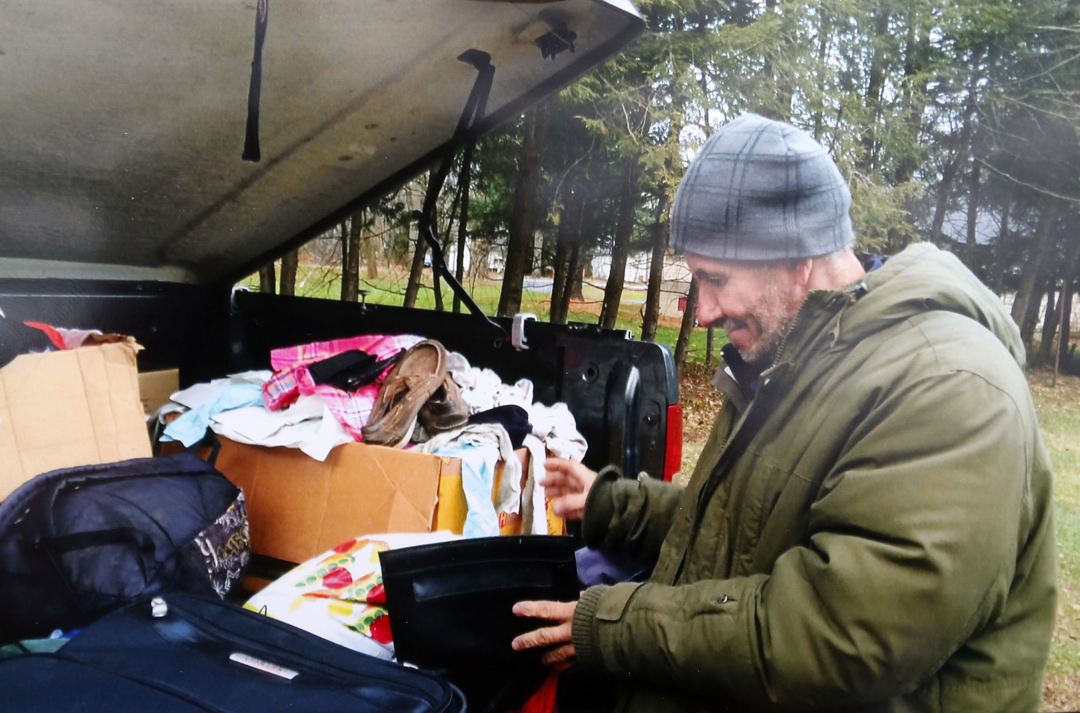A photo of a homeless man, Jose Duren Matus, who was helped by Betsy Goinski in December after he became stranded in Elma, N.Y., while enroute to New York City.           (Mark Mulville / The Buffalo News)