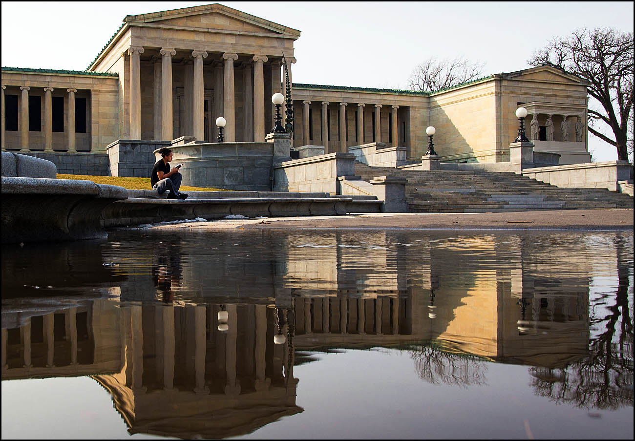 The Albright-Knox Art Gallery has recently suffered structural damage that is closing one of its galleries.  (Derek Gee/Buffalo News file photos)