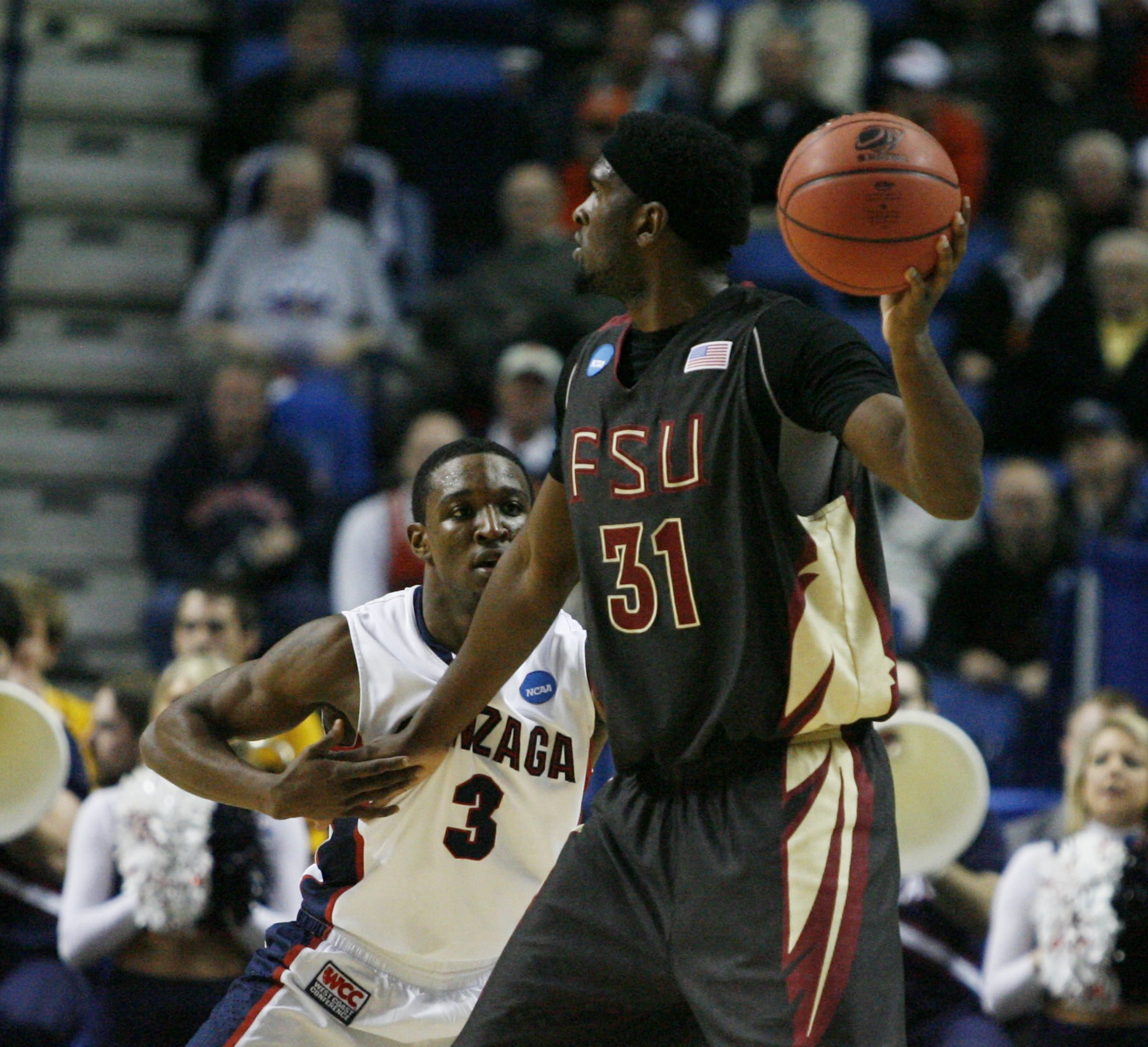 Gonzaga guard Demetri Goodson and the Zags kept Florida State at bay.  (James P. McCoy/Buffalo News)