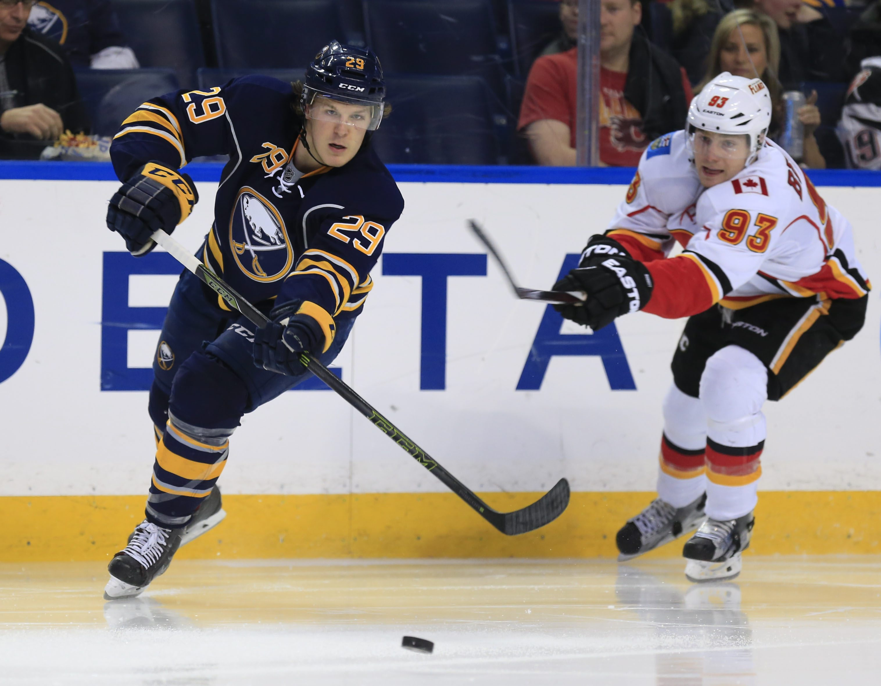 Jake McCabe was back with Rasmus Ristolainen on Tuesday (Harry Scull Jr./Buffalo News file photo).