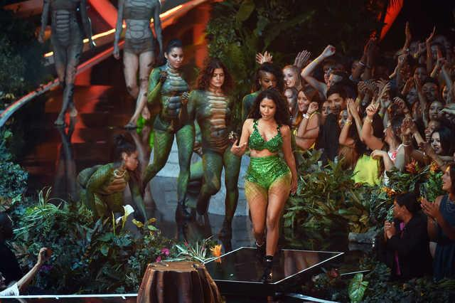 Nicki Minaj performs during the 2014 MTV Video Music Awards  (Michael Buckner/Getty Images)