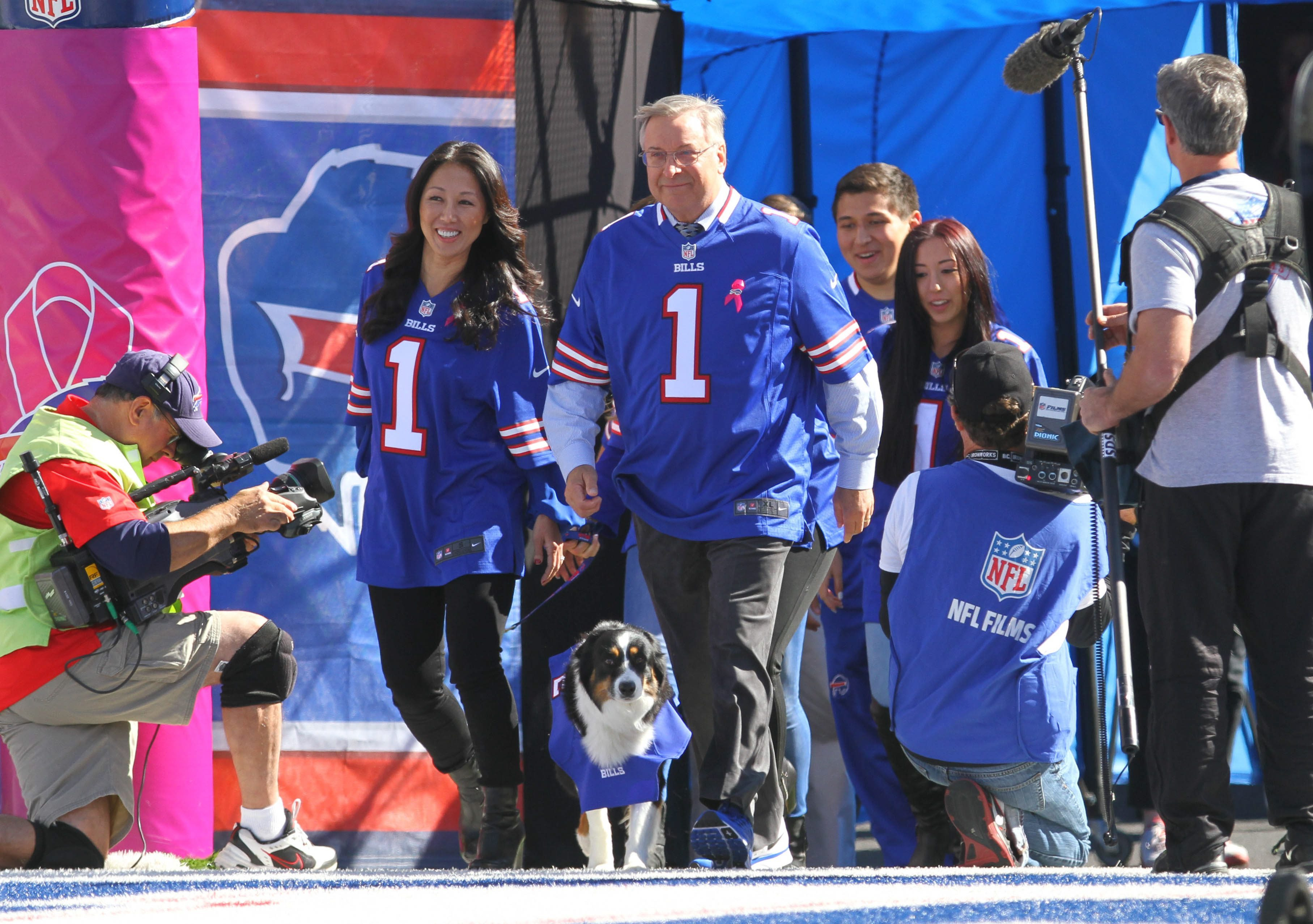 Buffalo Bills owners Terry and Kim Pegula.  (Mark Mulville/Buffalo News)