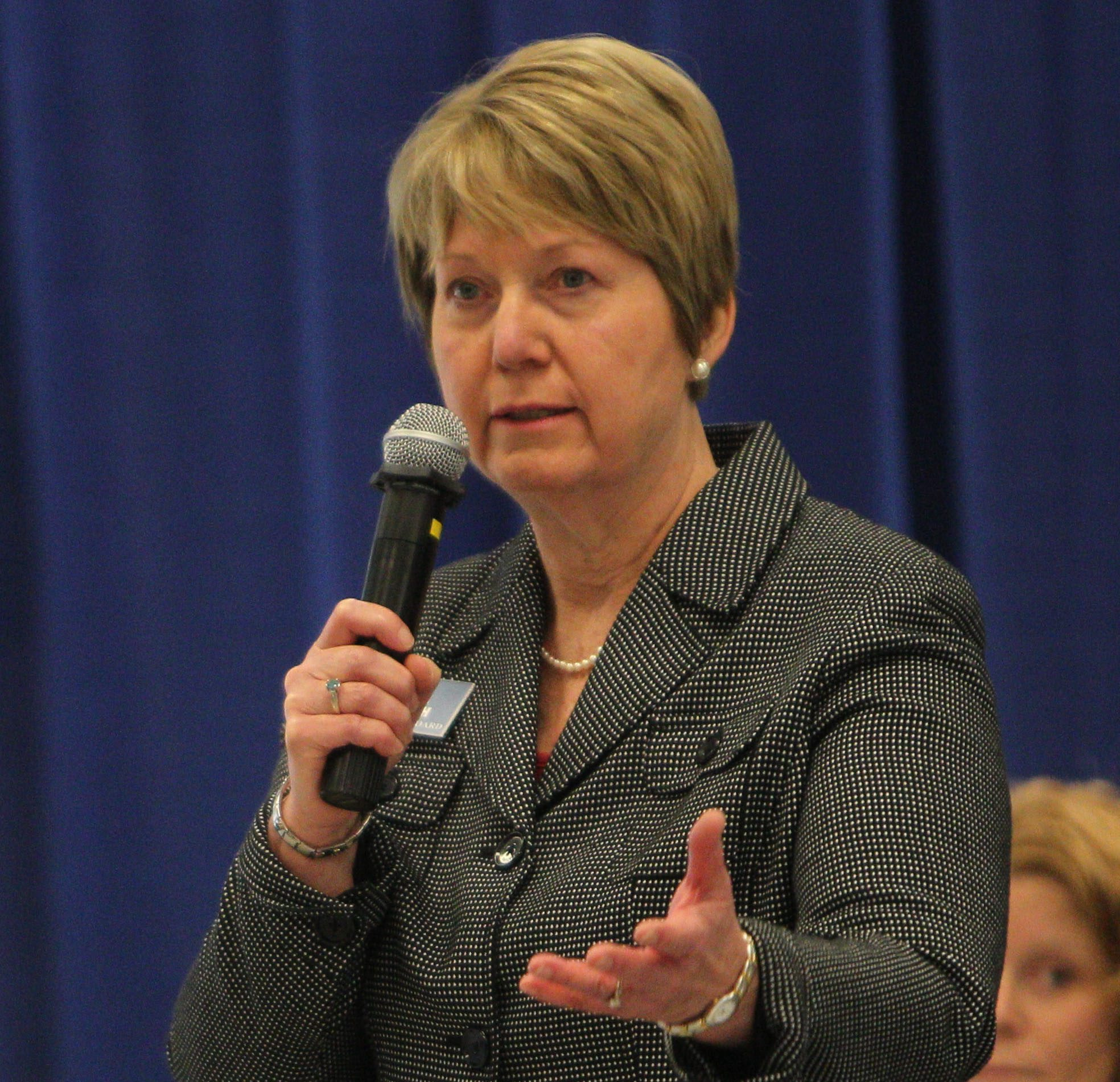 Ramona Popowich talks at a candidates forum while running for the Amherst Town Board in this file photo from Oct. 24, 2013. . (Sharon Cantillon/Buffalo News)