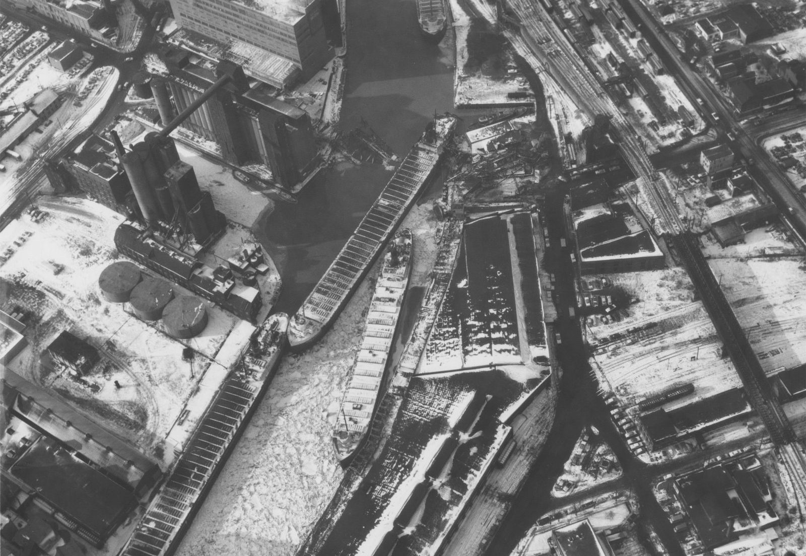 The scene from above after the crash. (Courtesy of The Buffalo History) Museum