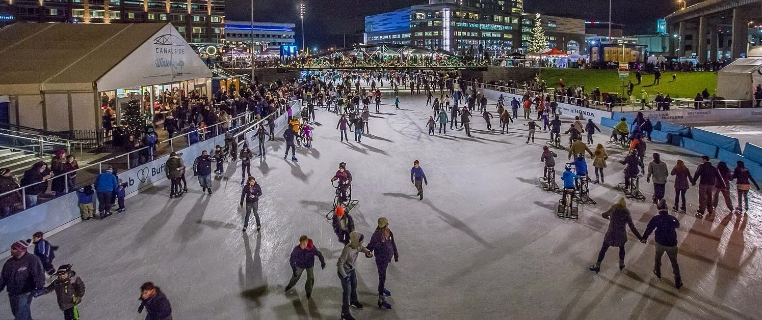 Skaters glide around The Ice at Canalside. (Don Nieman/Special to The News)