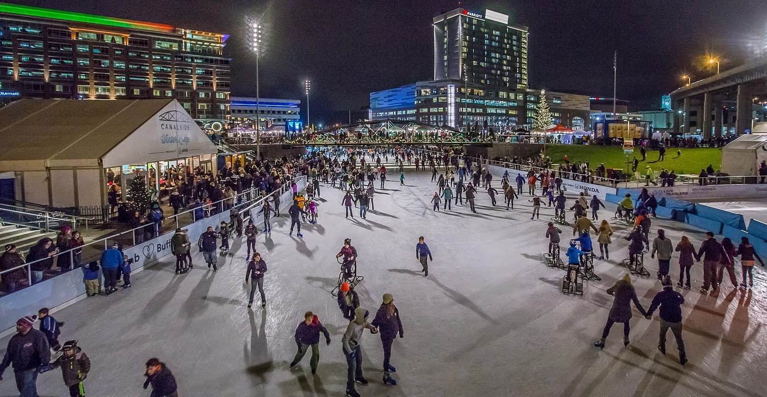 Skaters have taken to the The Ice at Canalside in greater numbers this year than in the past. (Don Nieman/Special to The News)