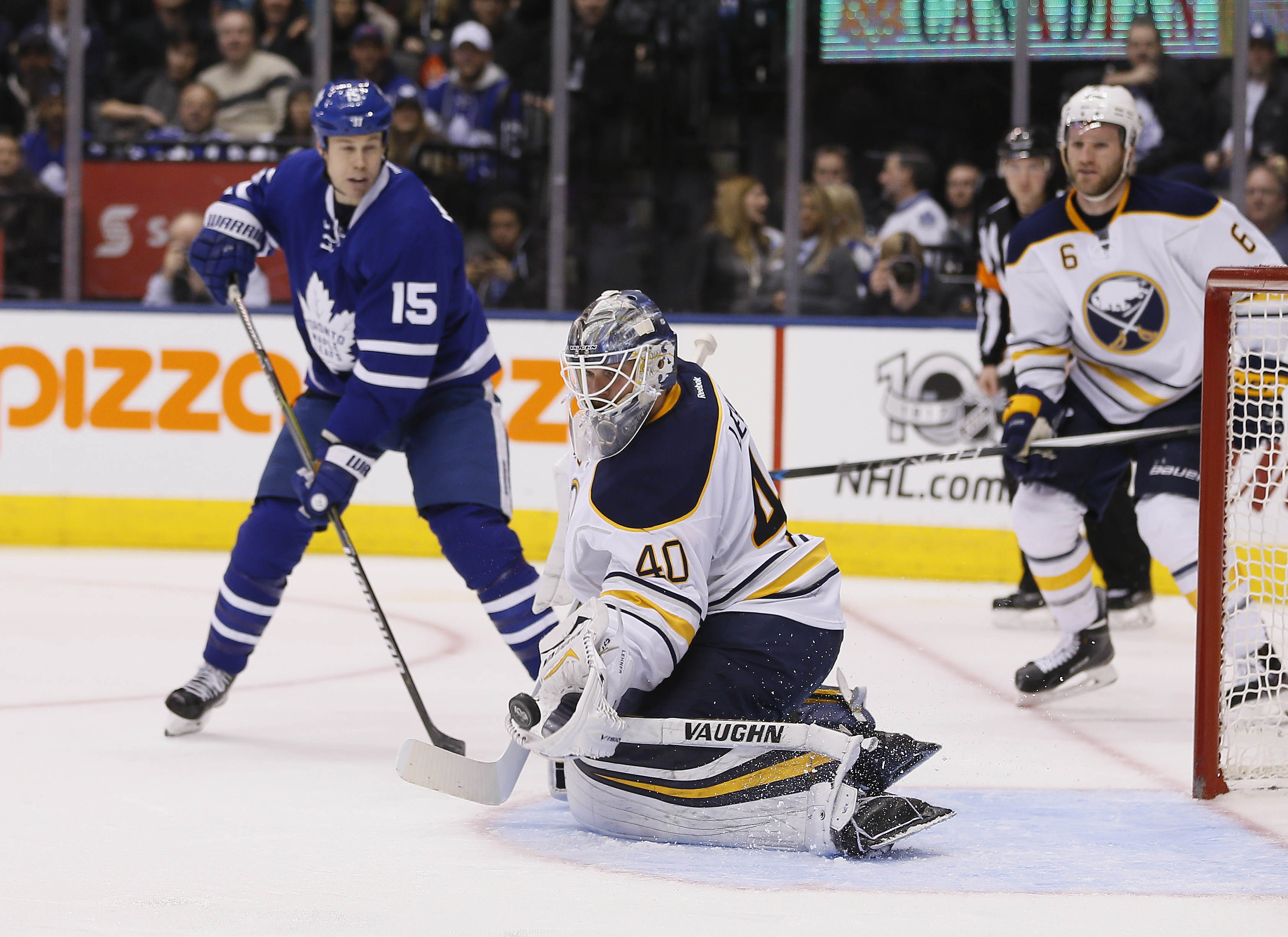Robin Lehner caused a social media stir after Tuesday's game in Toronto.  (John E. Sokolowski/USA TODAY Sports)