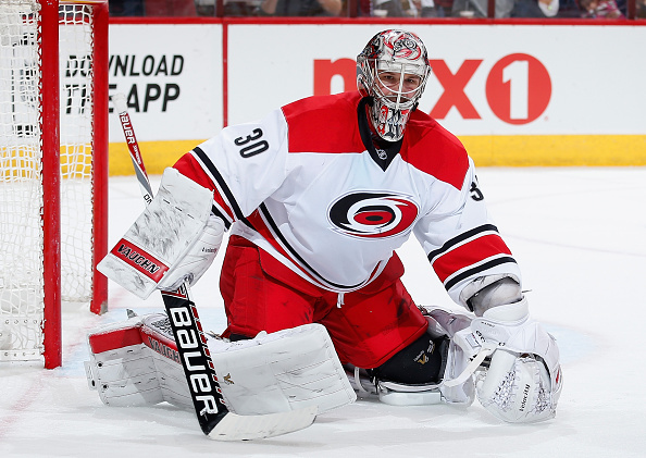 Cam Ward plays his 600th NHL game tonight (Getty Images).