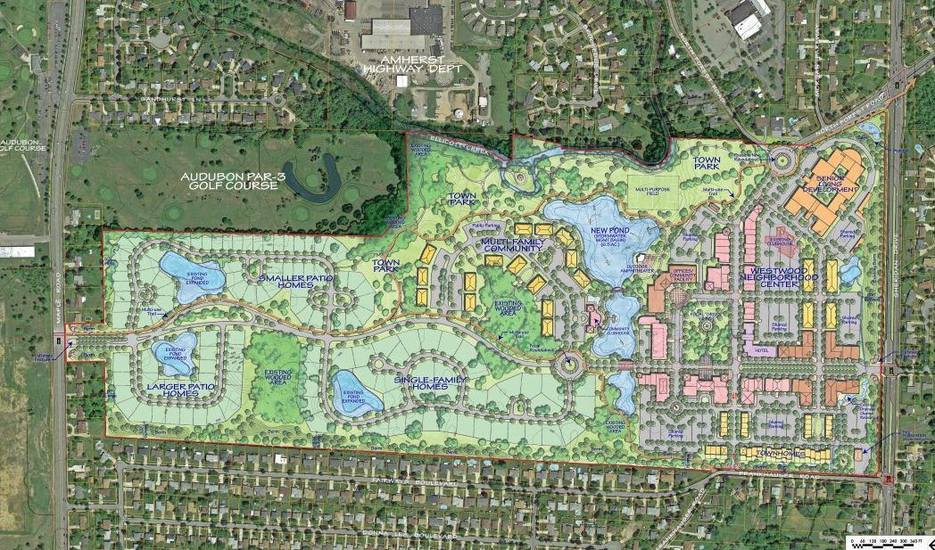 Conceptual master plan for the Westwood site.