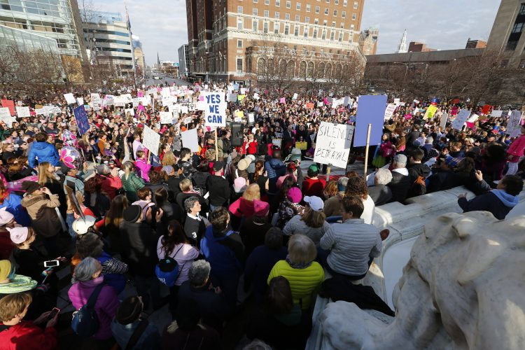 Thousands attend women's rally against Trump in Buffalo