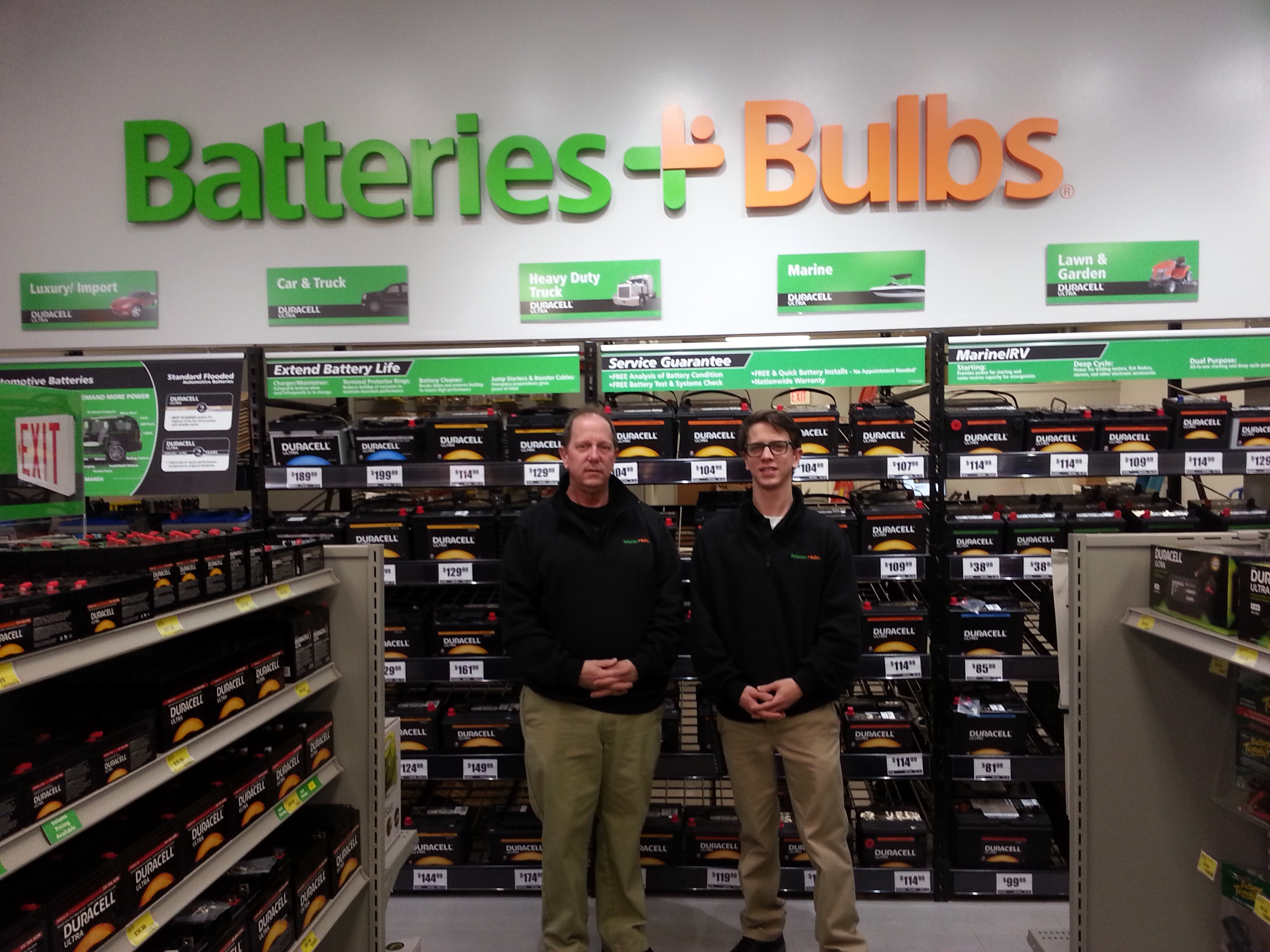 Jeff Molnar, left, and Ian Molnar, right, will run the new Batteries Plus Bulbs franchise in East Amherst (Contributed photo)