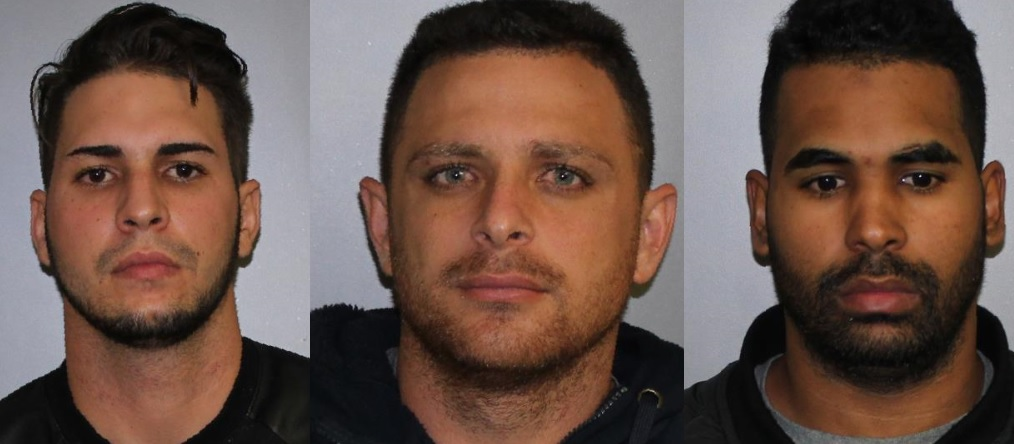 Ernesto Alvarez-Santos, 20; Abel Garcia-Fernandez, 31; and Yordani Ramirez-Salgado, 27, face four felony charges in what authorities called a 'large credit card skimming operation.' (State Police)