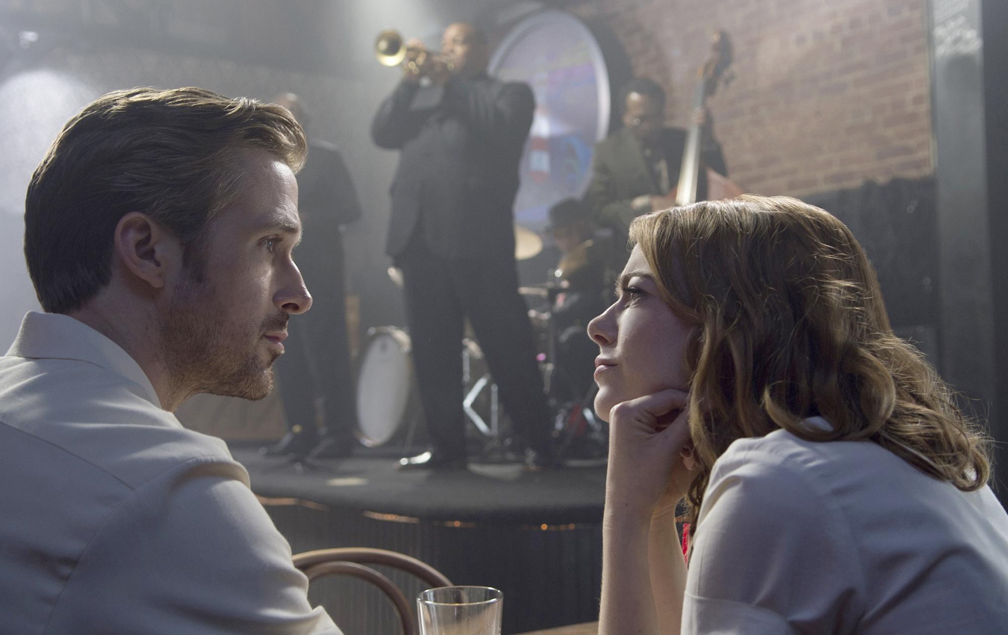 Sebastian (Ryan Gosling) and Mia (Emma Stone) in'La La Land.' (Dale Robinette, Lionsgate)