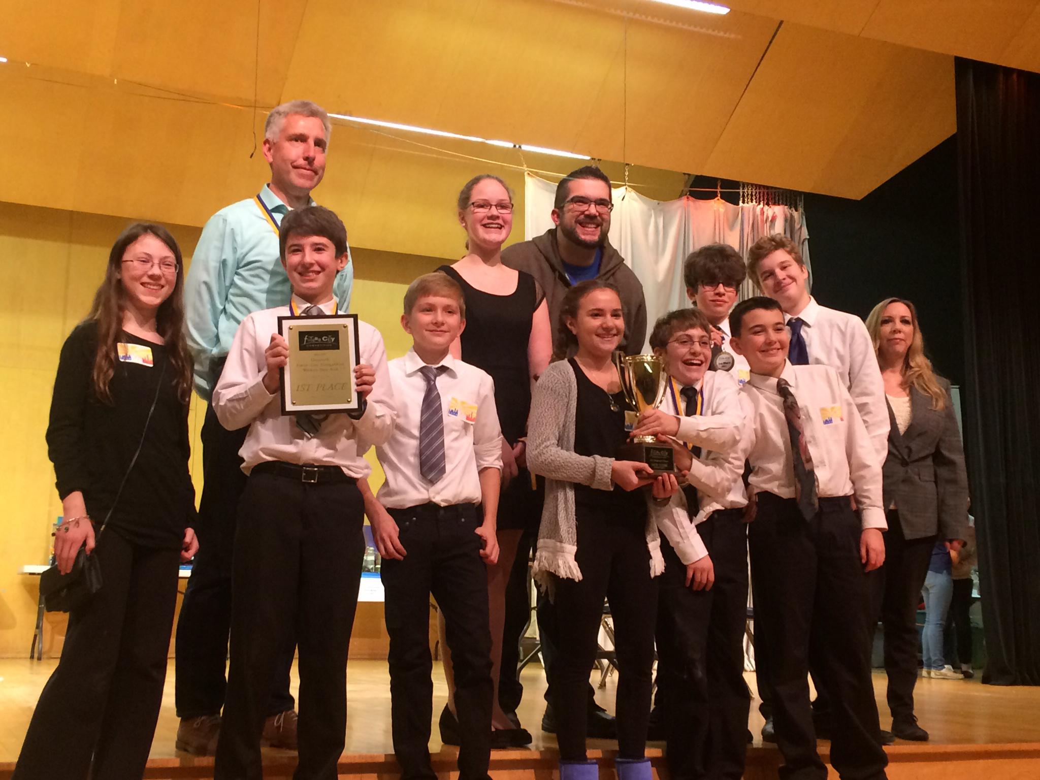 Paradisville Mill Middle School 1st place for Future Cities competition