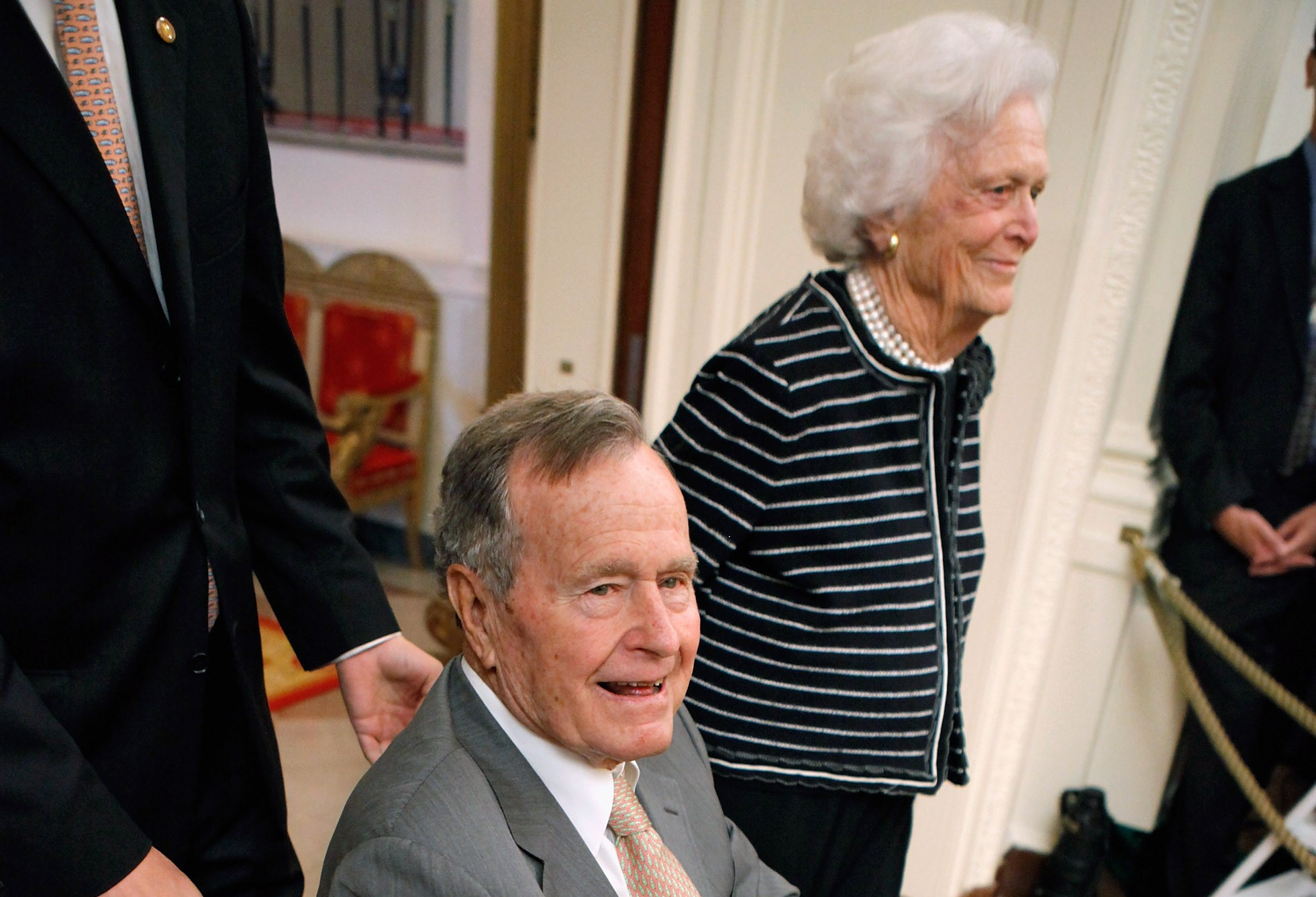 Former President George H.W. Bush and former First Lady Barbara Bush were both hospitalized recently. (Getty Images)