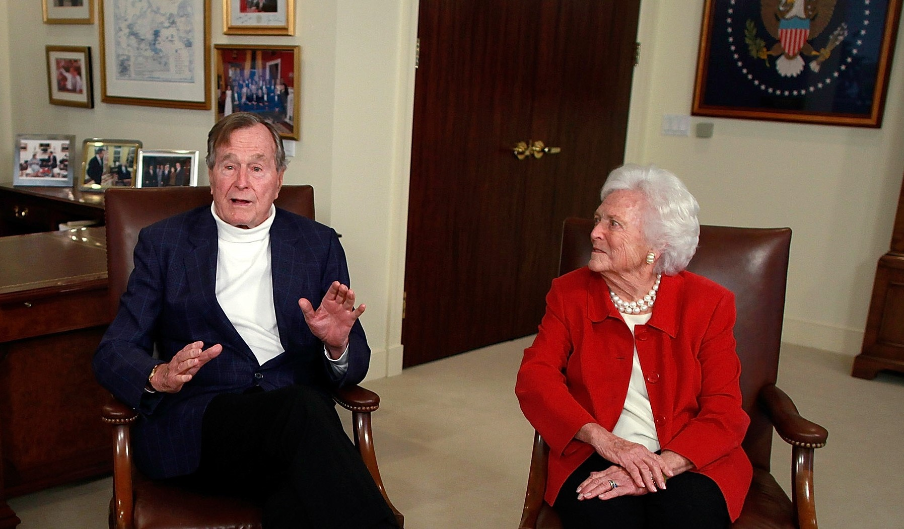 Former President George H.W. Bush and former First Lady Barbara Bush, pictured in 2012. (Getty Images)