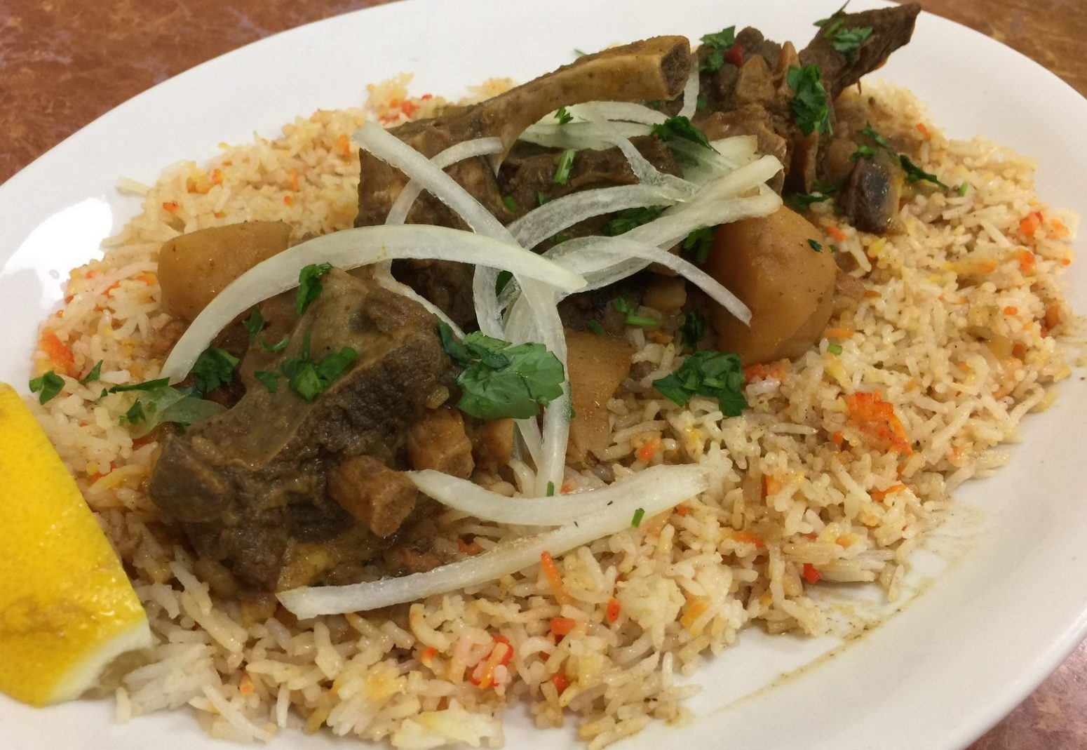 Braised Lamb With Potatoes, On Rice, At Kabob House (Andrew  Galarneau/Buffalo
