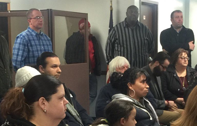 A meeting with NFTA officials over bus service in Lackawanna draws a standing room only crowd. (Jane Kwiatkowski Radlich/Buffalo News)