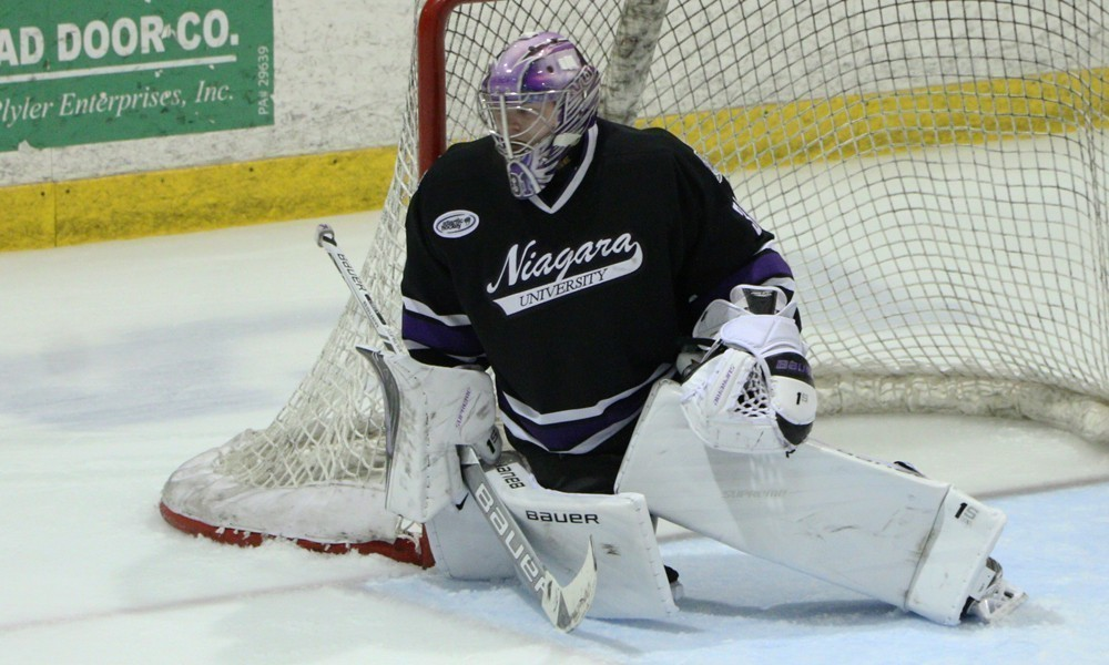 Joe O'Brien has a 1.51 goals-against average and .957 save percentage since the turn of the new year. (Niagara Athletic Communications)
