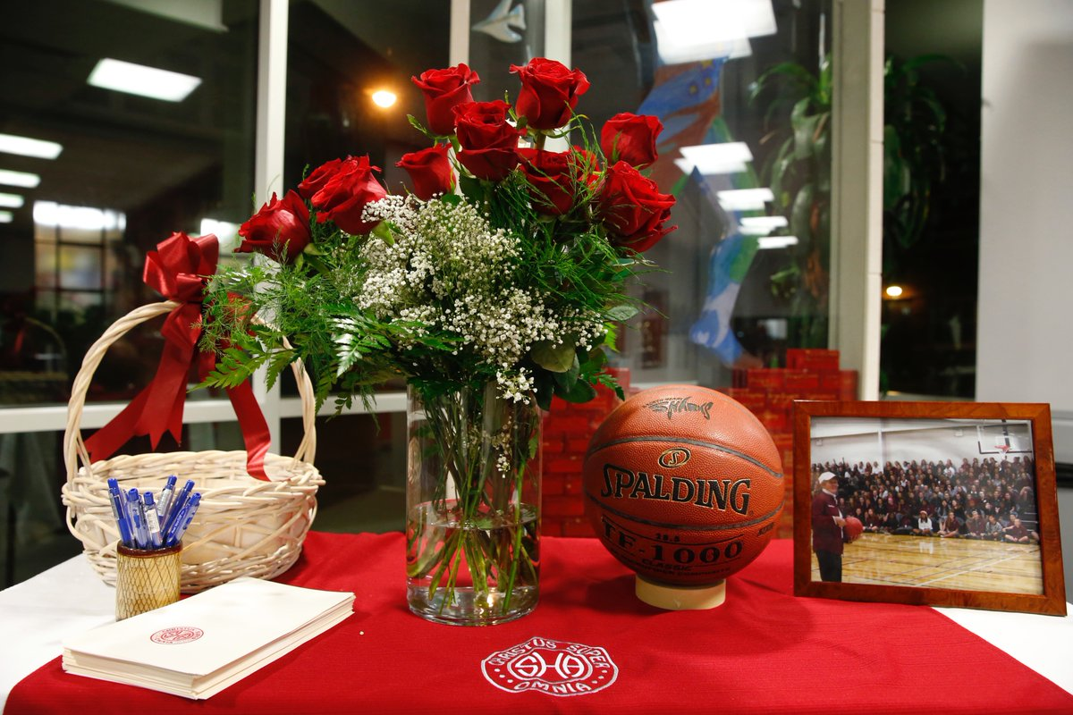 Sacred Heart set up a memorial to honor late Hall of Fame coach Sister Maria Pares. (Harry Scull Jr./Buffalo News)