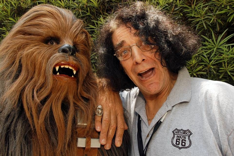 Peter Mayhew, seen with his on-screen 'Star Wars' counterpart Chewbacca, will be at Niagara Falls Comic Con.