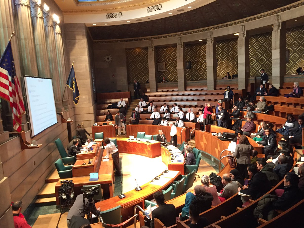 The Police Oversight Committee meets in Council chambers on Jan. 24, 2017. (Aaron Besecker/Buffalo News)