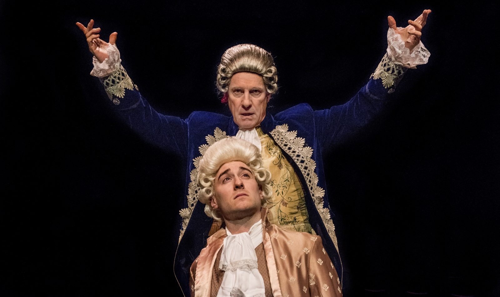 """The BPO and Irish Classical Theatre are collaborating on """"Amadeus."""" It stars Vince O'Neill, top, as Salieri, and  P.J. Tighe as Mozart."""