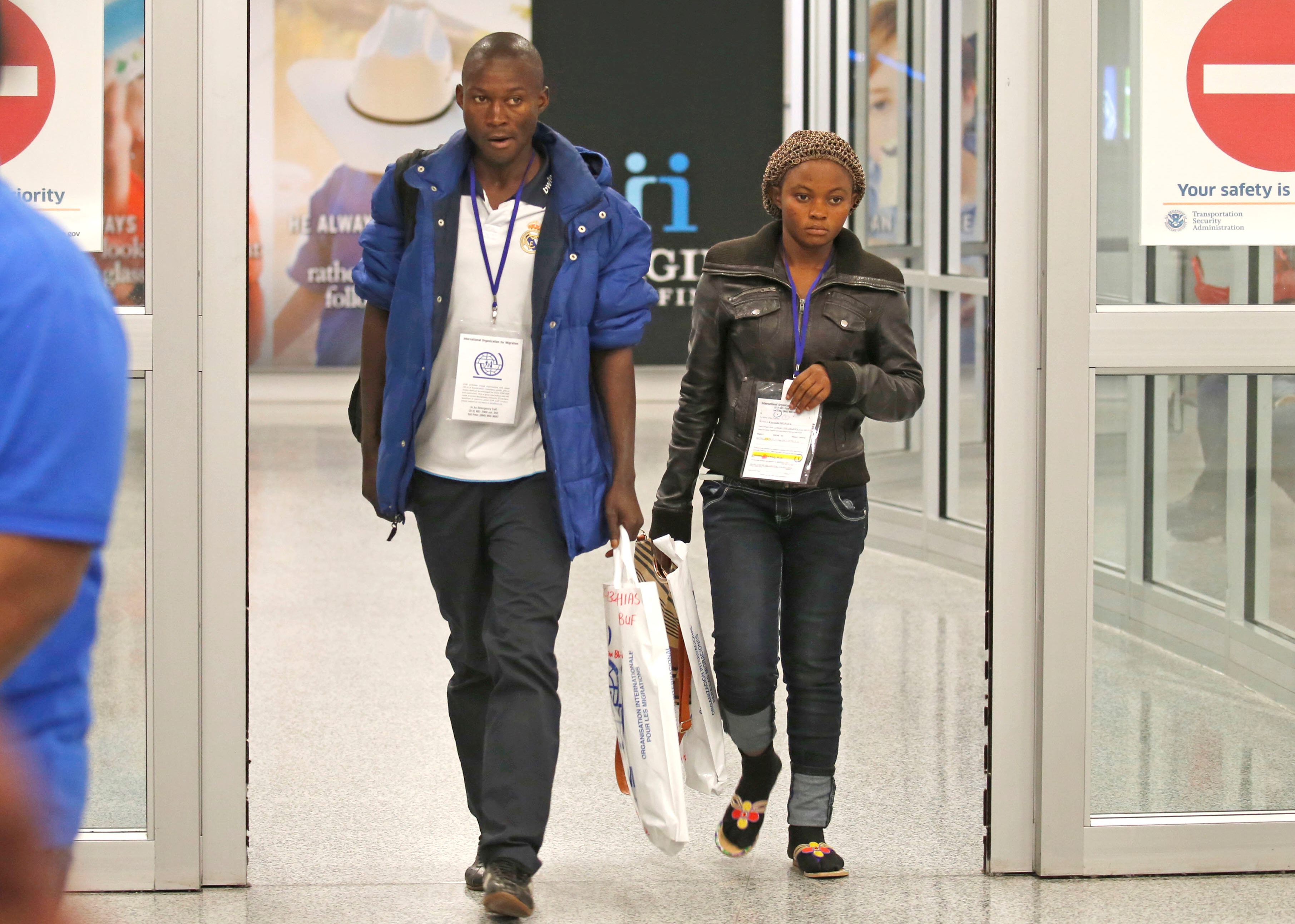 Kayambi and Kalombe Mutata are among the 872 new refugees being allowed into the U.S. through the end of this week under the new immigration order, after which all new refugee admissions will be suspended for 120 days. (Robert Kirkham/Buffalo News)