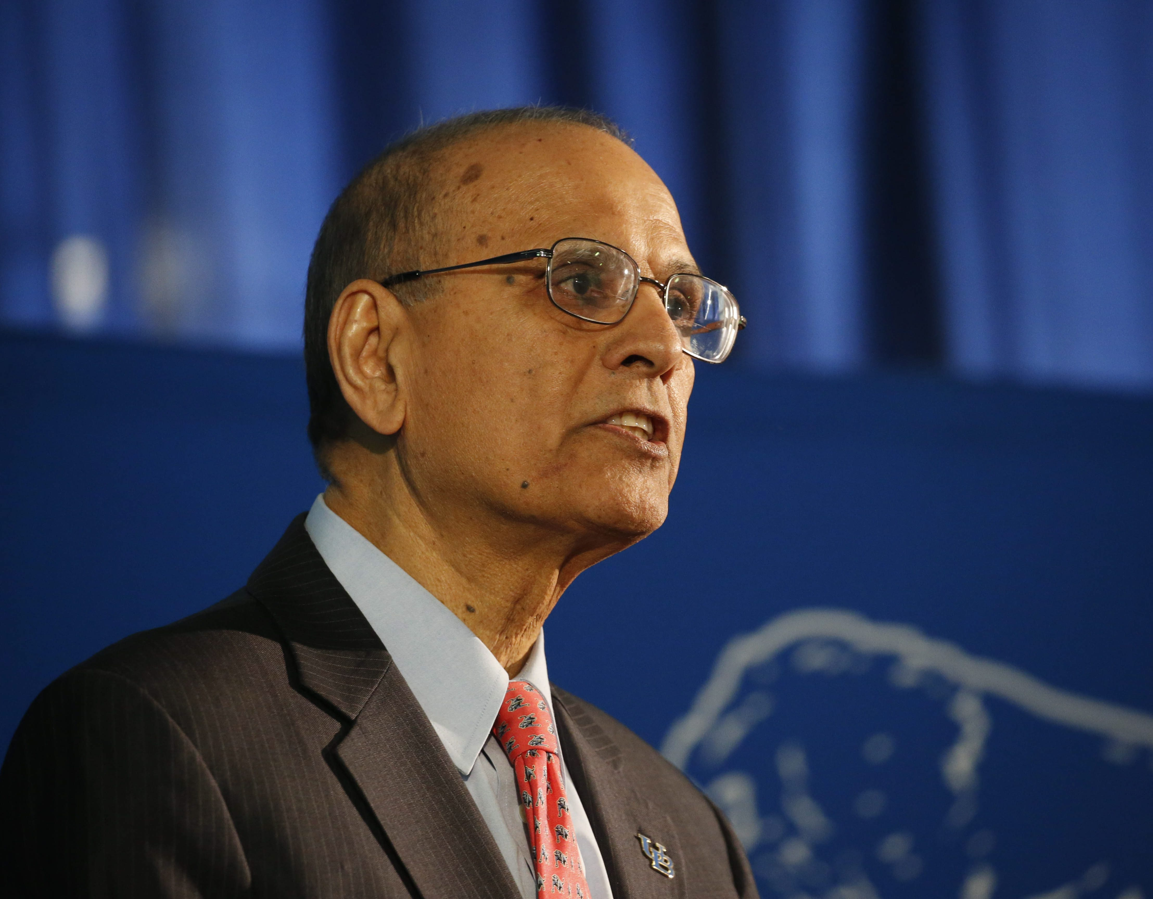 UB President Satish Tripathi is asking international students to stay put until details of President Donald Trump's entry ban are solidified. (Derek Gee/Buffalo News)