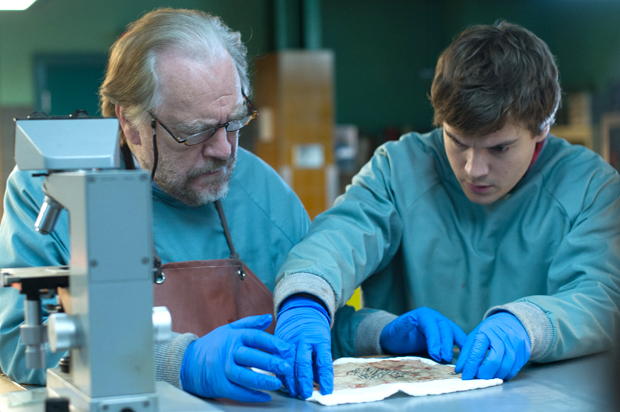 Brian Cox, left, and Emile Hirsch star in the creepy thriller 'The Autopsy of Jane Doe.'