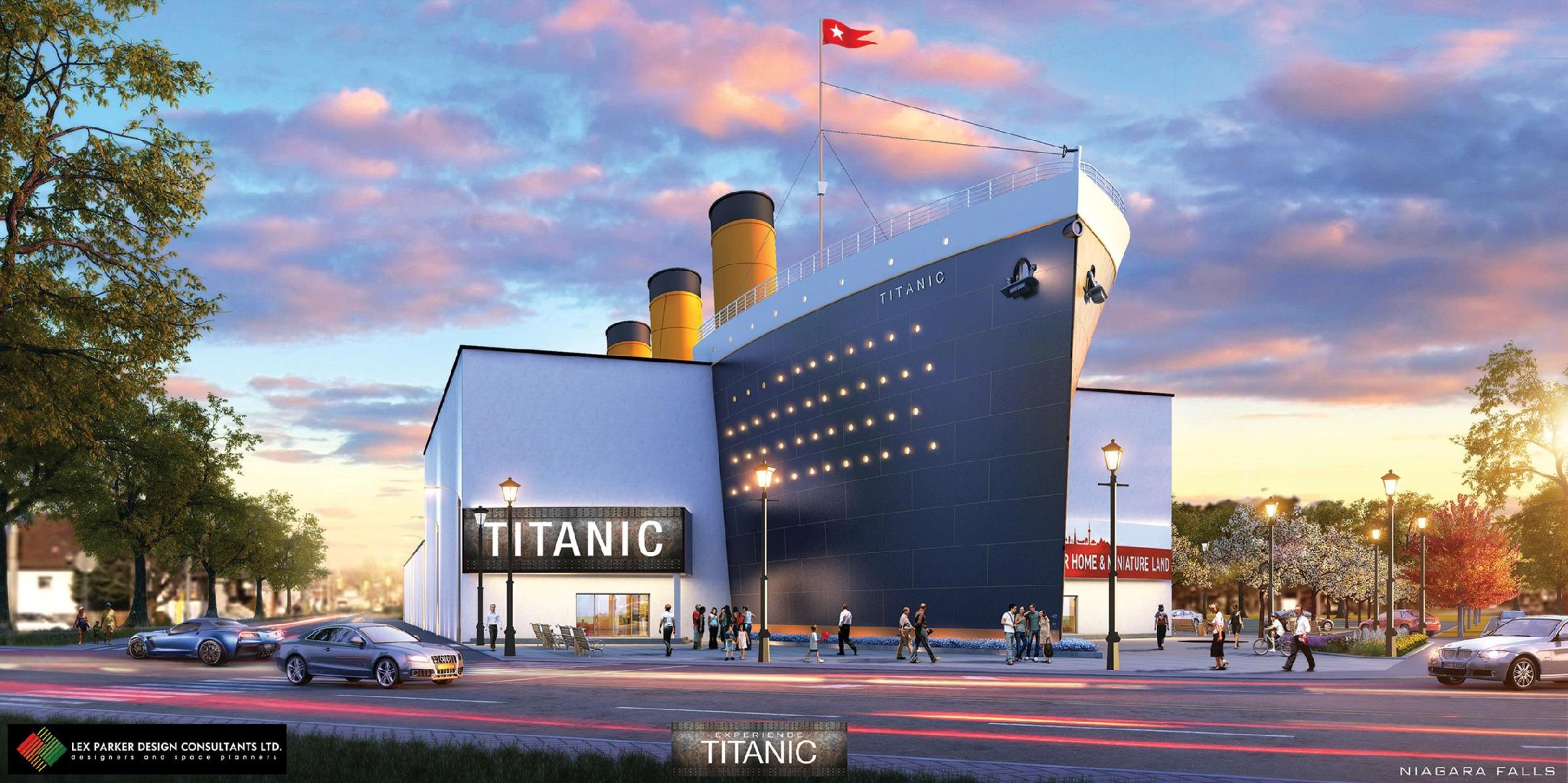 A rendering of the proposed Titanic-themed museum in Niagara Falls, Ont. (Courtesy of Lex Parker Design Consultants Ltd.)