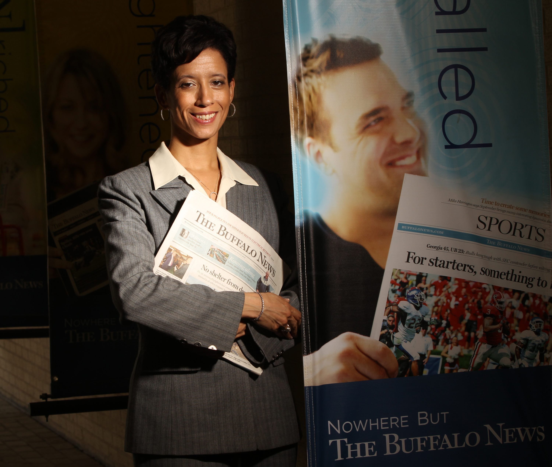 Lisa Wilson has been executive sports editor of The News since 2011. (James P. McCoy/ Buffalo News)