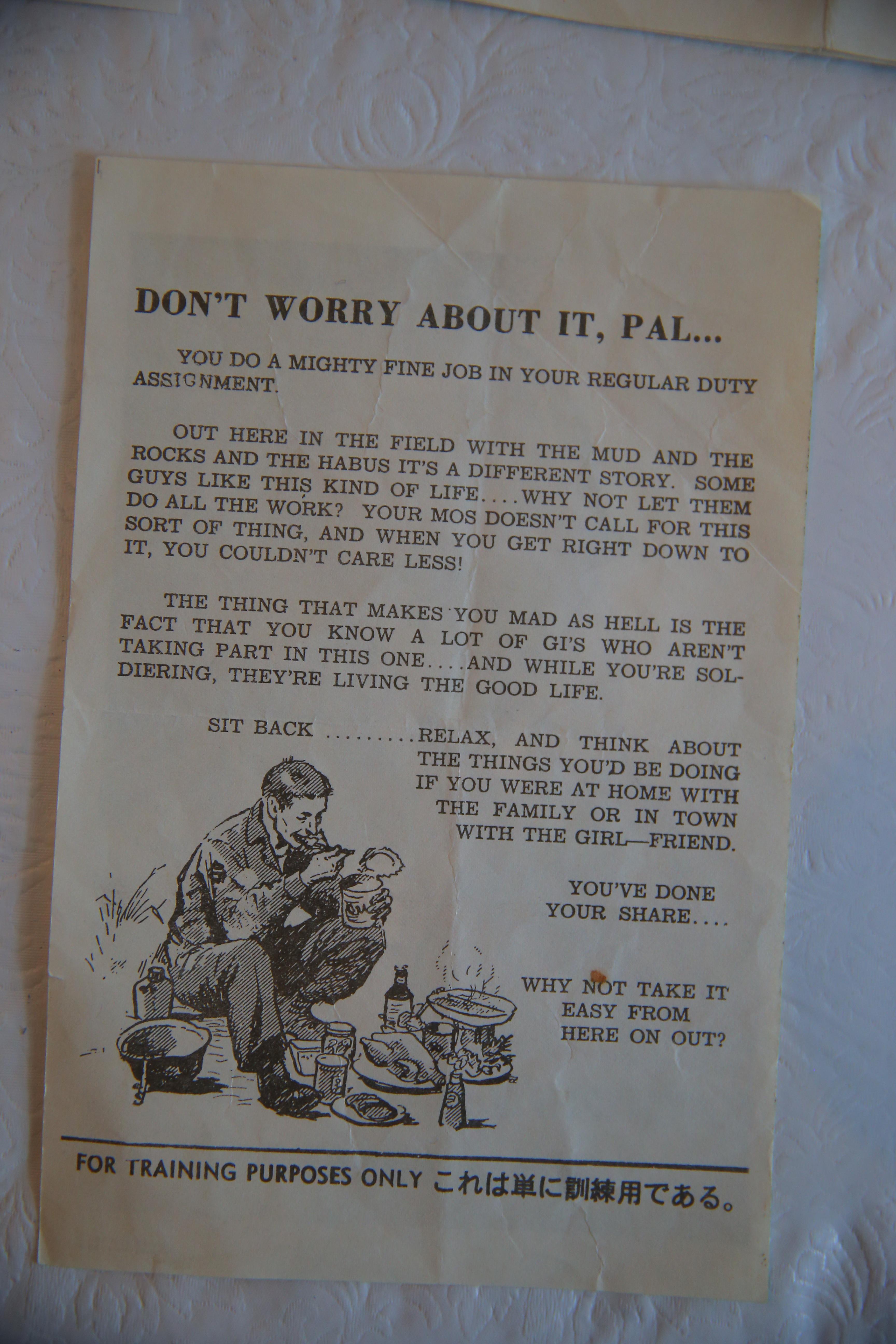 Vietnam-era veteran counterfeited, legally, to make life