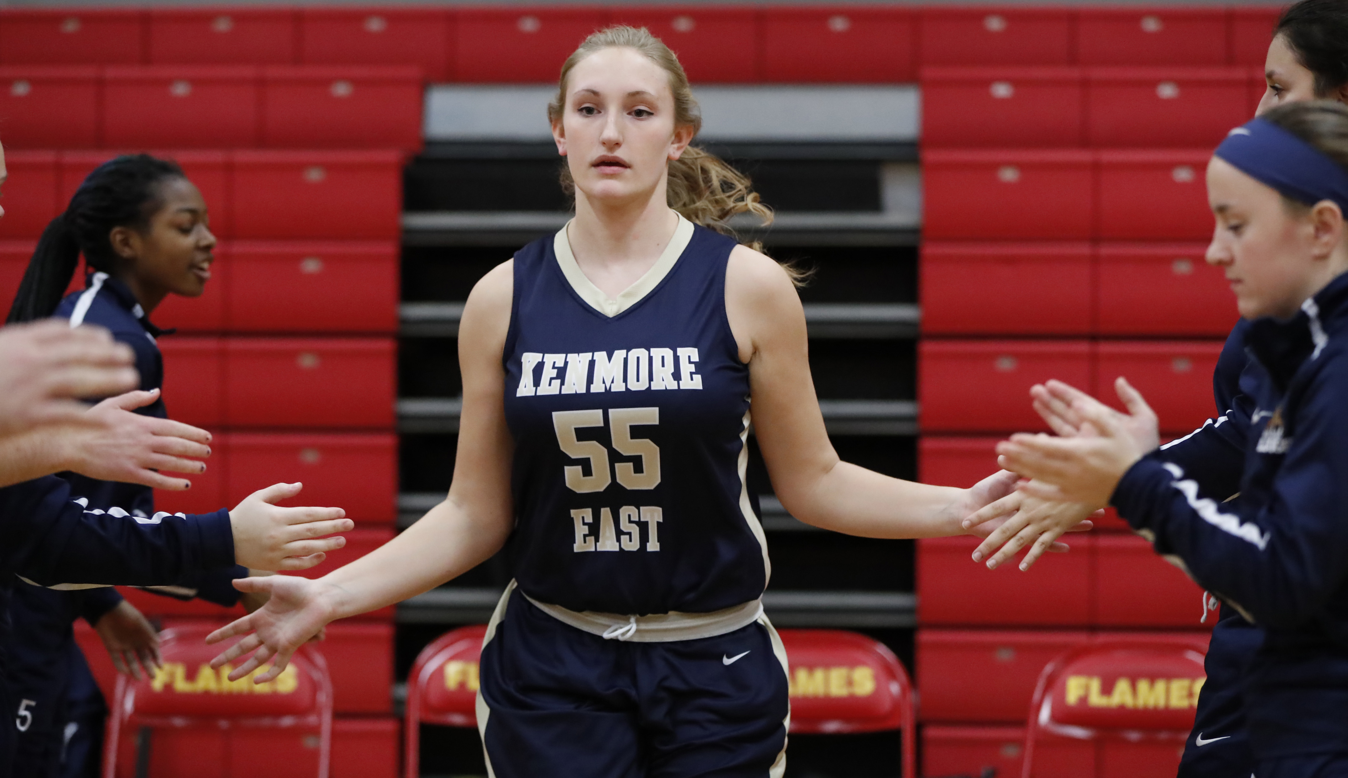Carianne McCarthy and the Kenmore East Bulldogs are the No. 1 seed in Class A-2 for the Section VI tournament. (Harry Scull Jr./Buffalo News)