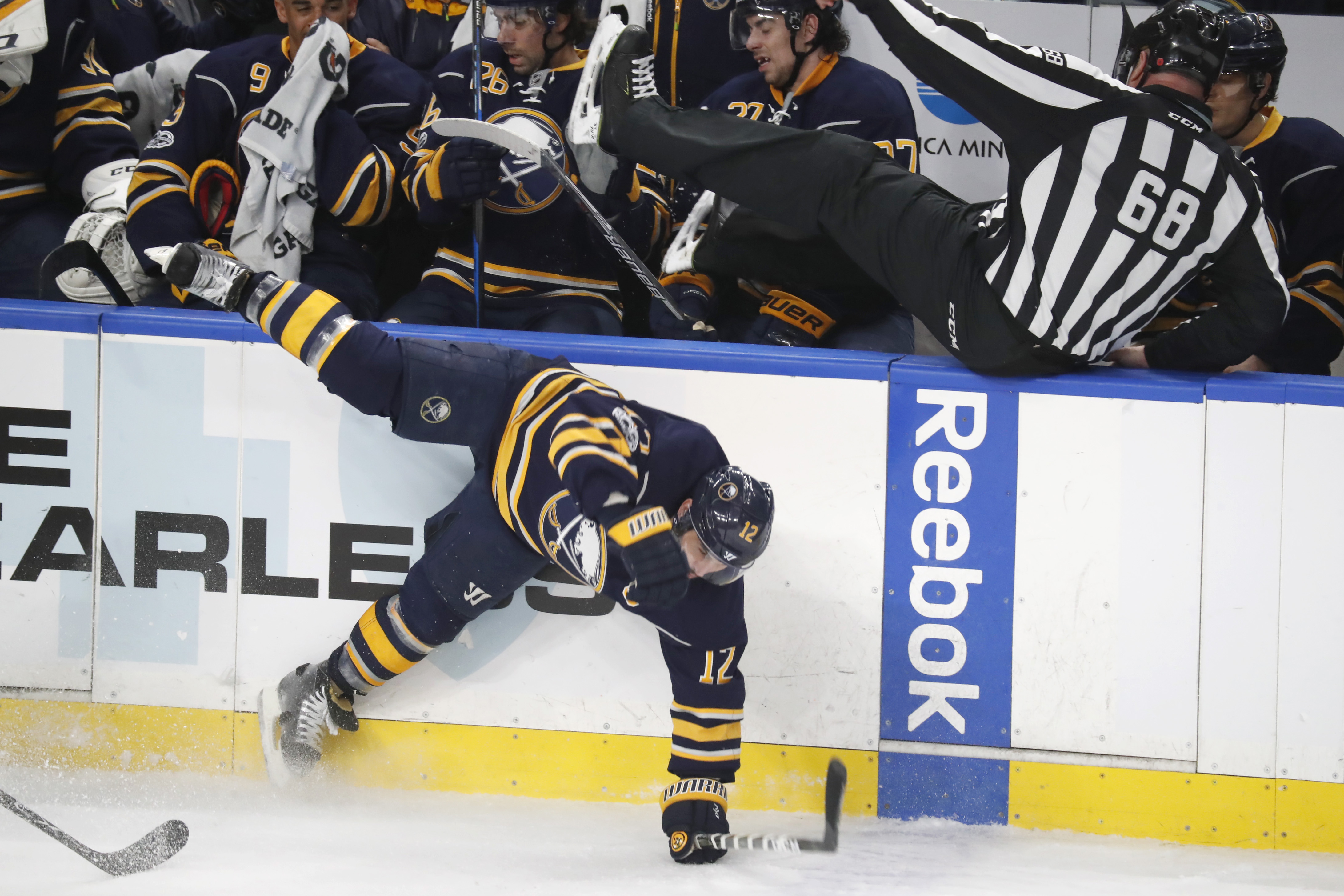 The Sabres have a knack for falling flat on Thursdays.  (Harry Scull Jr./Buffalo News)