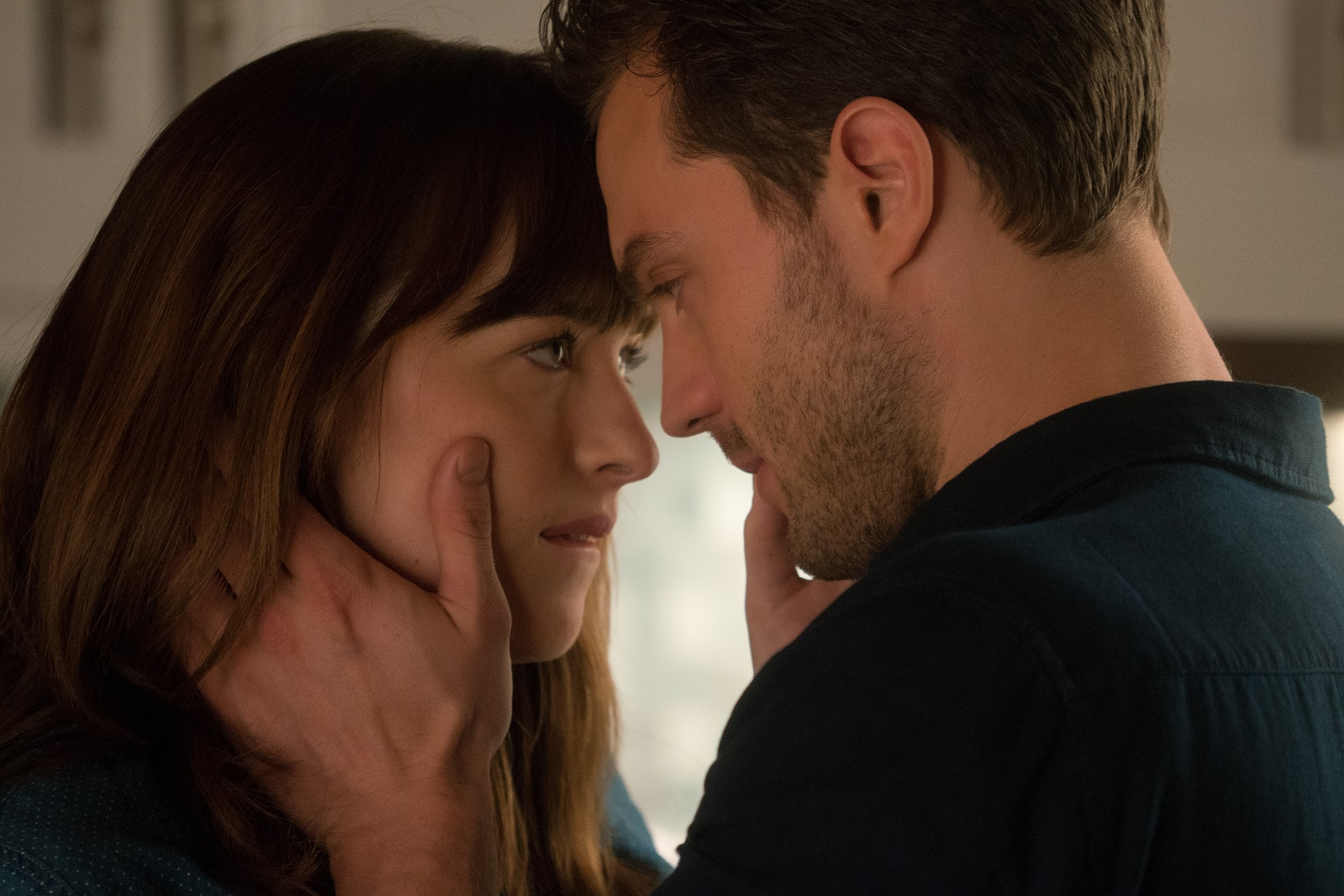 """Dakota Johnson and Jamie Dornan return as Anastasia Steele and Christian Grey in 'Fifty Shades Darker,' the second chapter based on the worldwide bestselling """"Fifty Shades"""" phenomenon."""