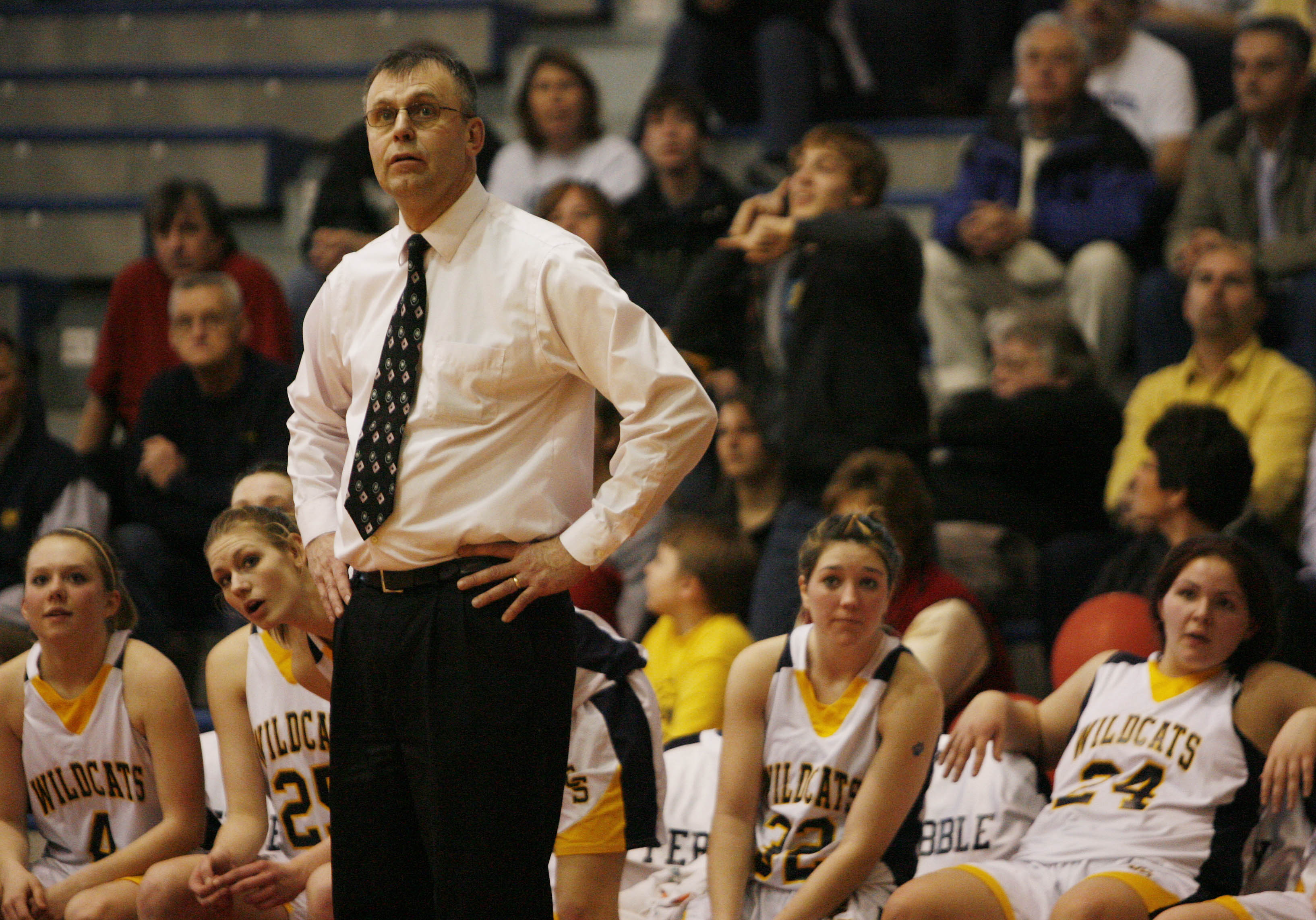 Sherman girls basketball coach Mel Swanson has compiled 607 wins.  (Mark Mulville/Buffalo News file photo).