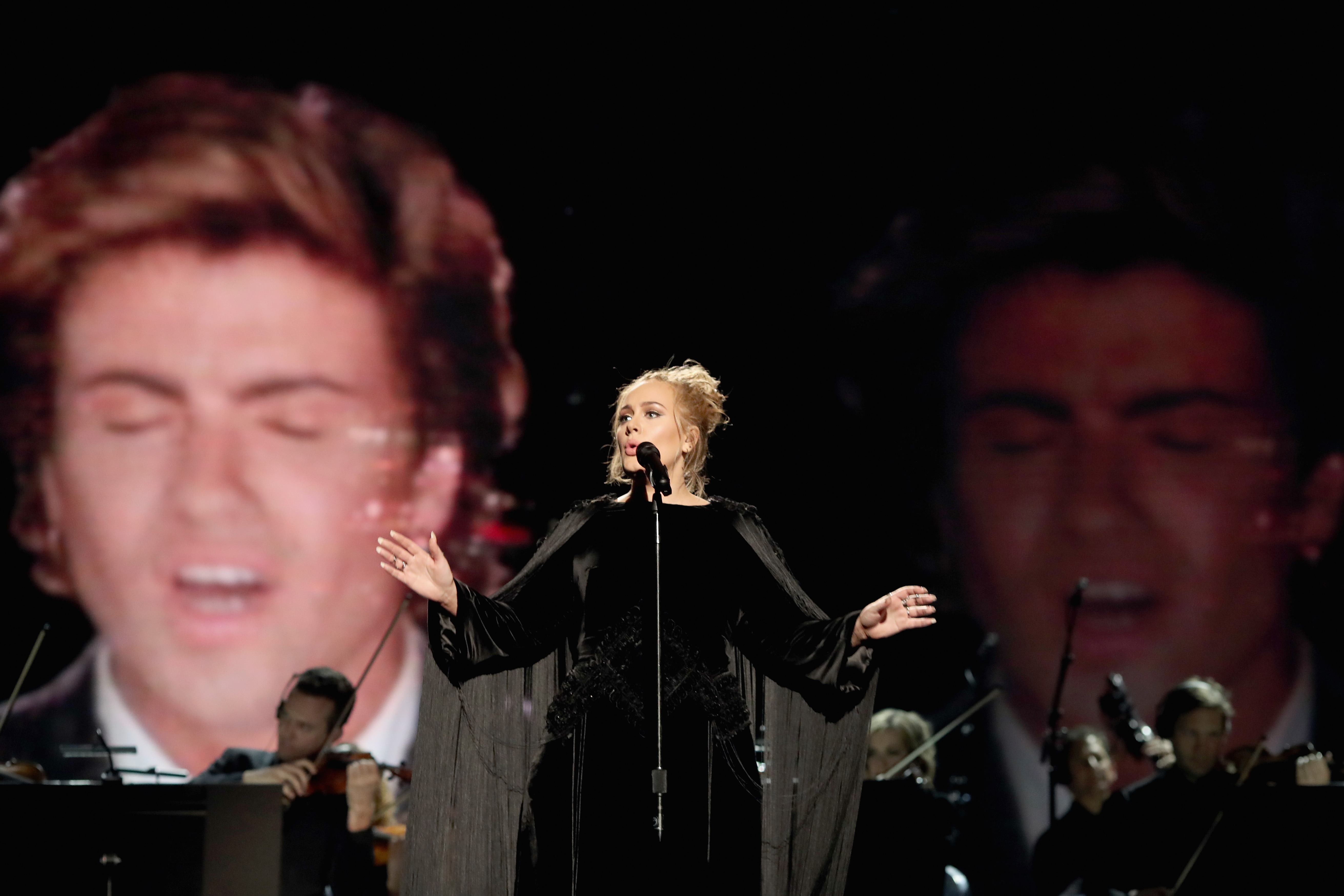 Singer Adele performs during The 59th GRAMMY Awards at STAPLES Center on February 12, 2017 in Los Angeles.  (Photo by Christopher Polk/Getty Images for NARAS)