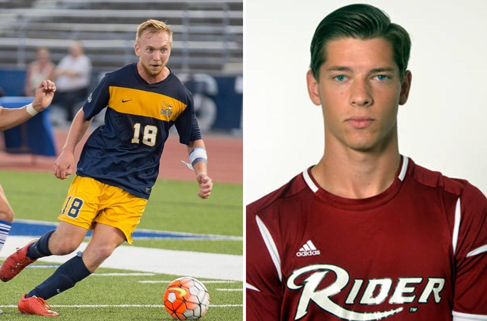 Chris Berardi, left, and Andrew Crawford have new destinations for the 2017 BDSL season. (Don Nieman; Rider University)