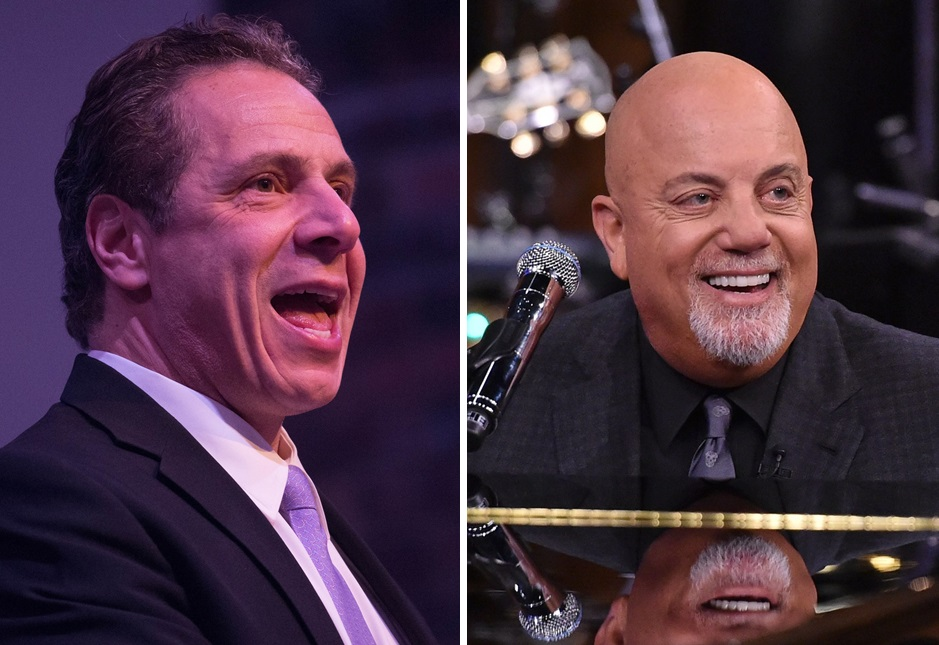 Billy Joel, right, is a fixture on the Spotify playlist of New York State Governor Andrew M. Cuomo, left. (Derek Gee/Buffalo News file photo; Getty Images)