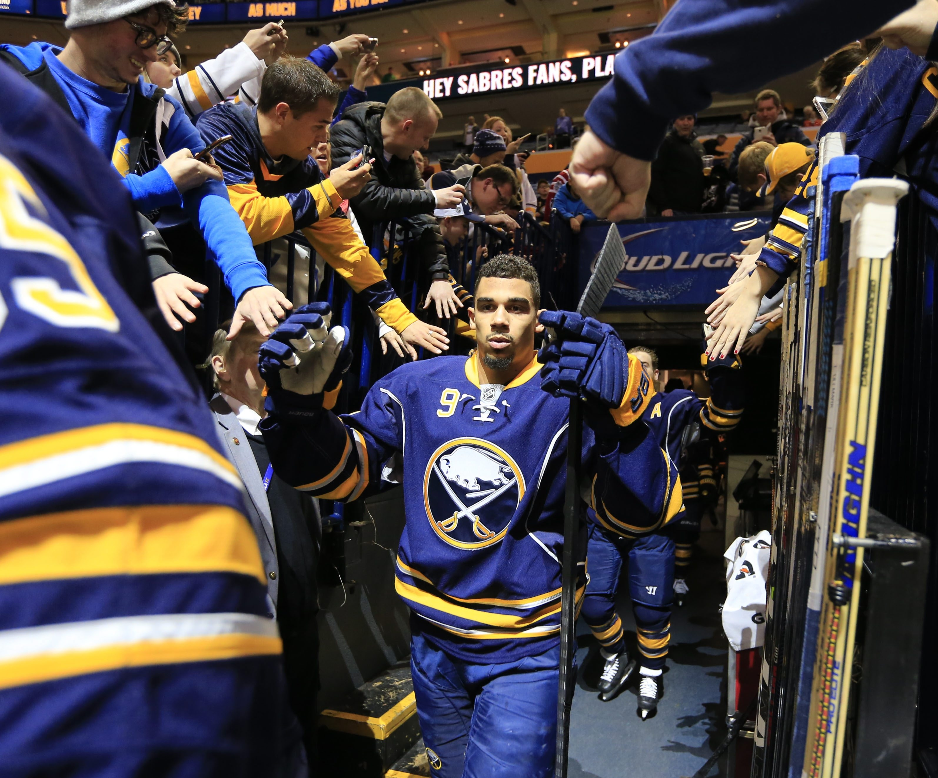 The flu kept Evander Kane from taking the ice Tuesday in Ottawa (Harry Scull Jr./Buffalo News file photo)