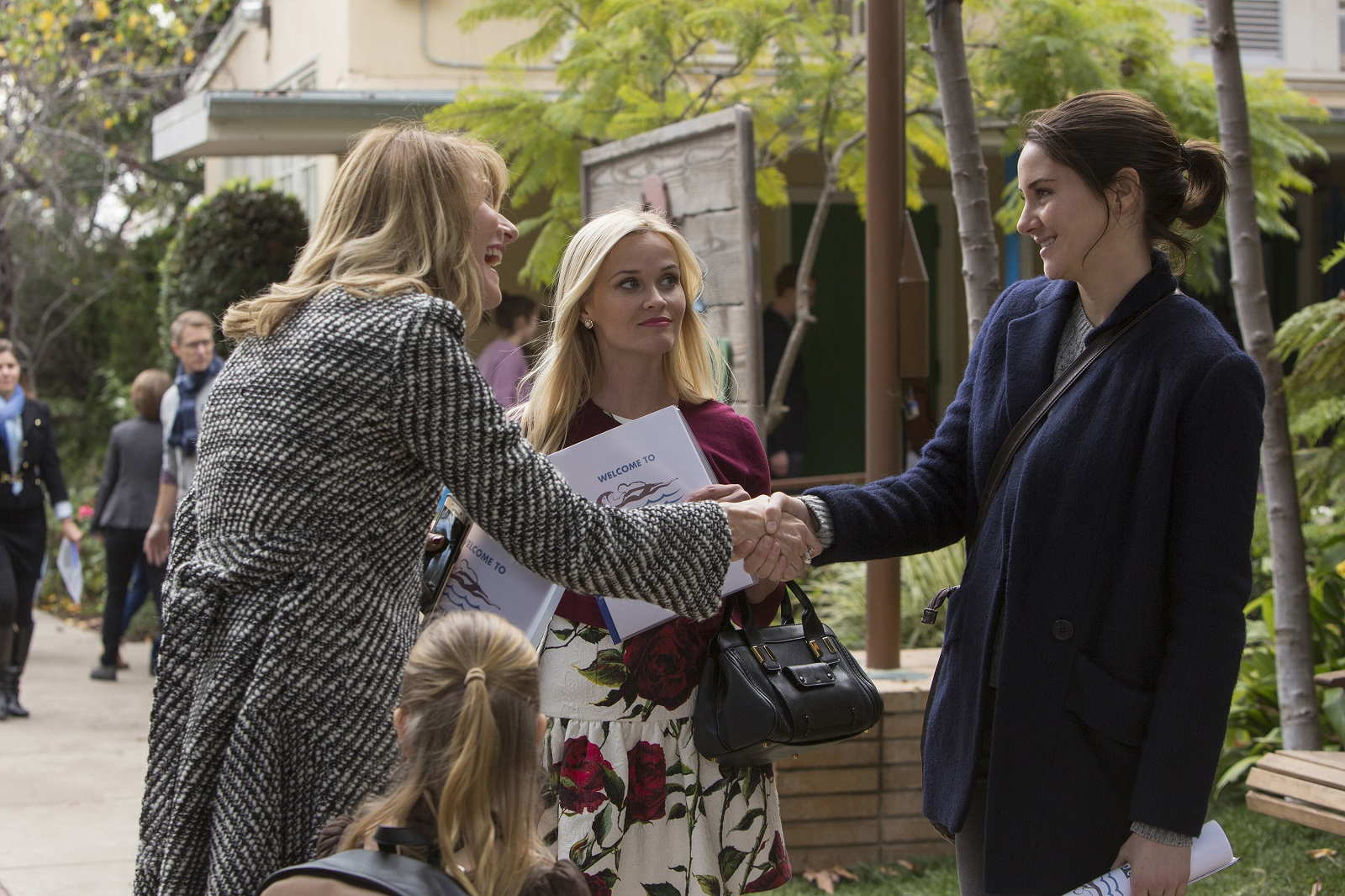 Laura Dern, Reese Witherspoon, and Shailene Woodley in 'Big Little Lies.'