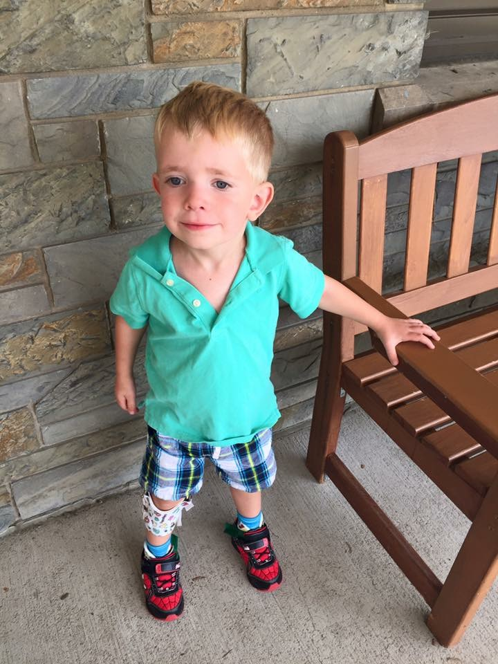 Ethan Ashcroft, age 3, on his first day of preschool. (Provided photo)