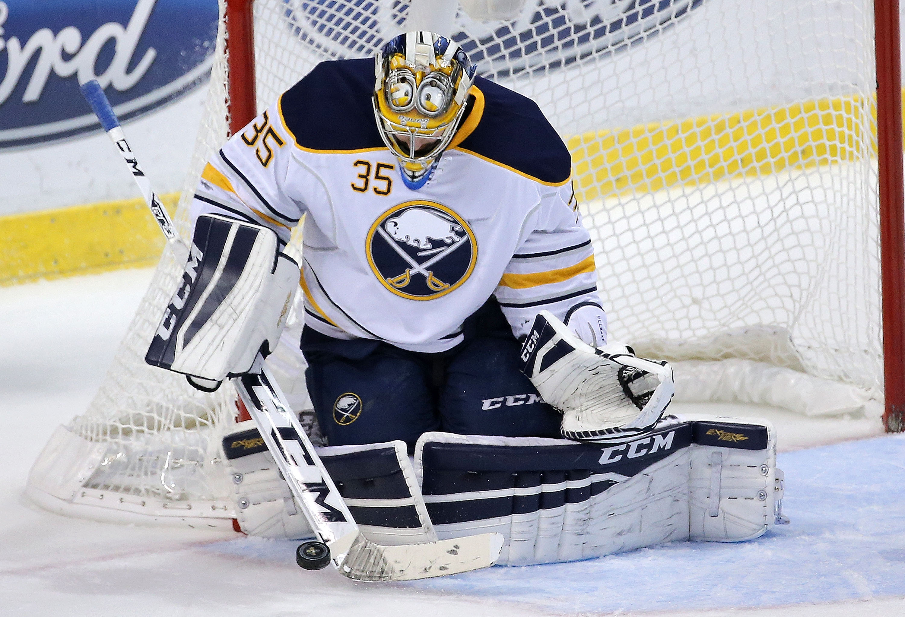 Goaltender Linus Ullmark is 19-19-2 for Rochester with a league-high 40 appearances. (Getty Images)