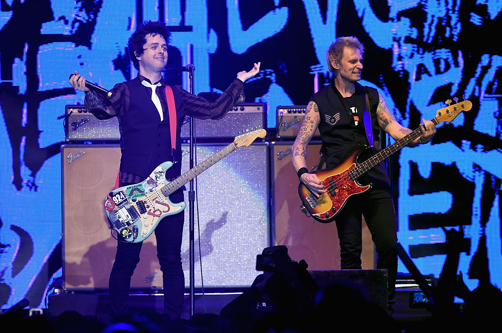 Green Day, with Billie Joe Armstrong, left, and Mike Dirnt, are coming to Darien Lake on Aug. 26. (Getty Images)