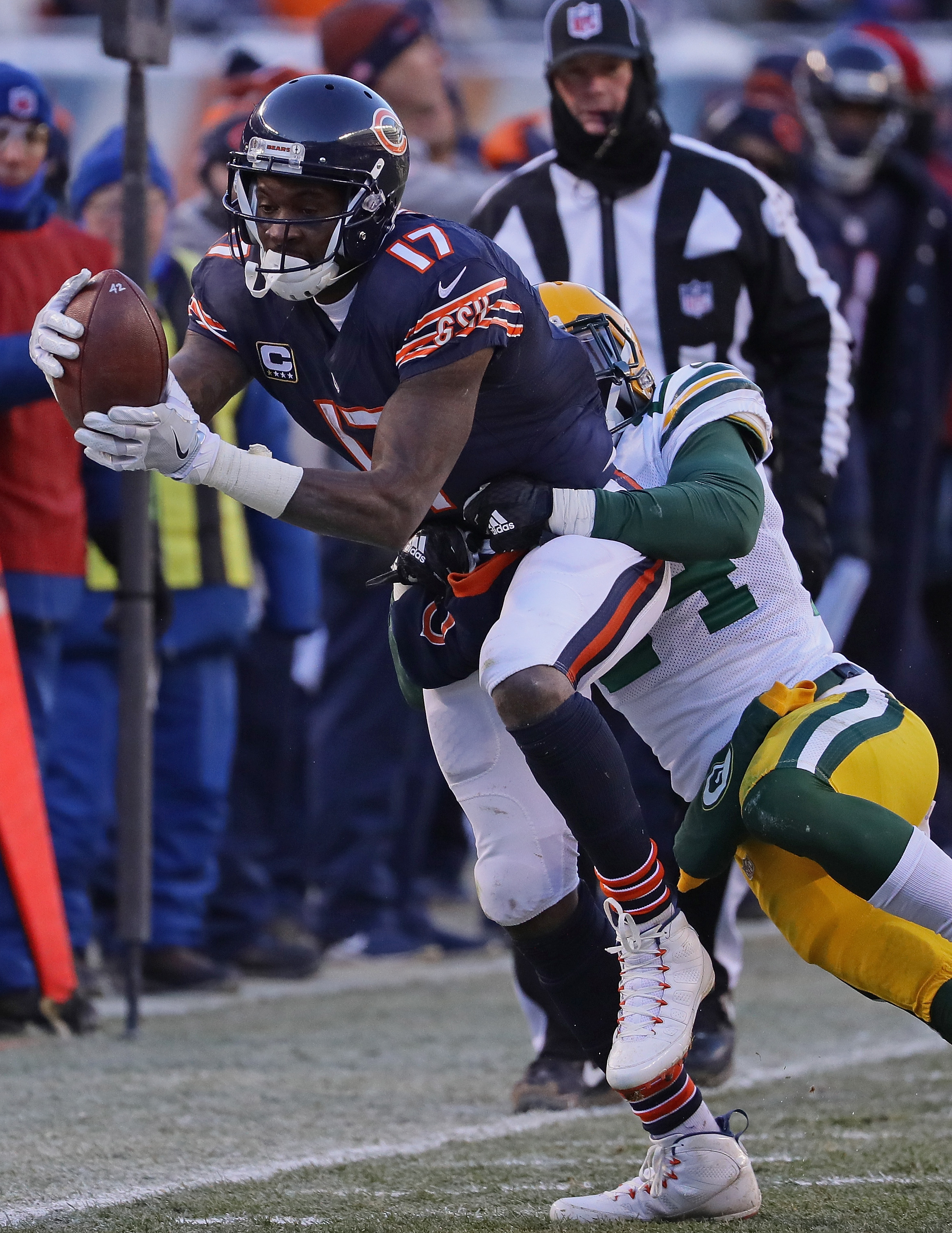 Alshon Jeffery of the Chicago Bears is among the intriguing receivers who could be hitting the open market.  (Photo by Jonathan Daniel/Getty Images)