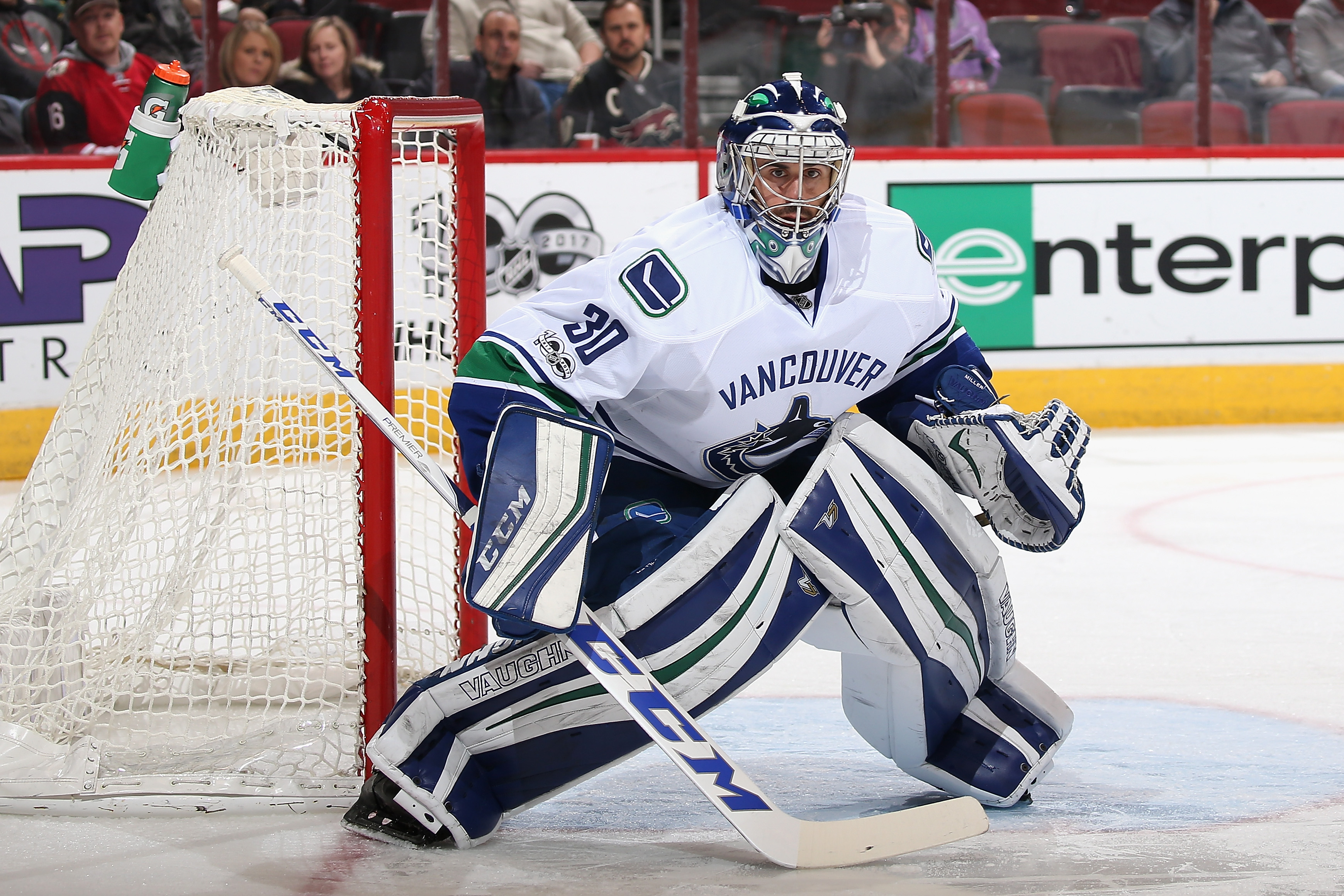 Ryan Miller's next victory will put him 19th on the NHL's all-time list. (Getty Images)