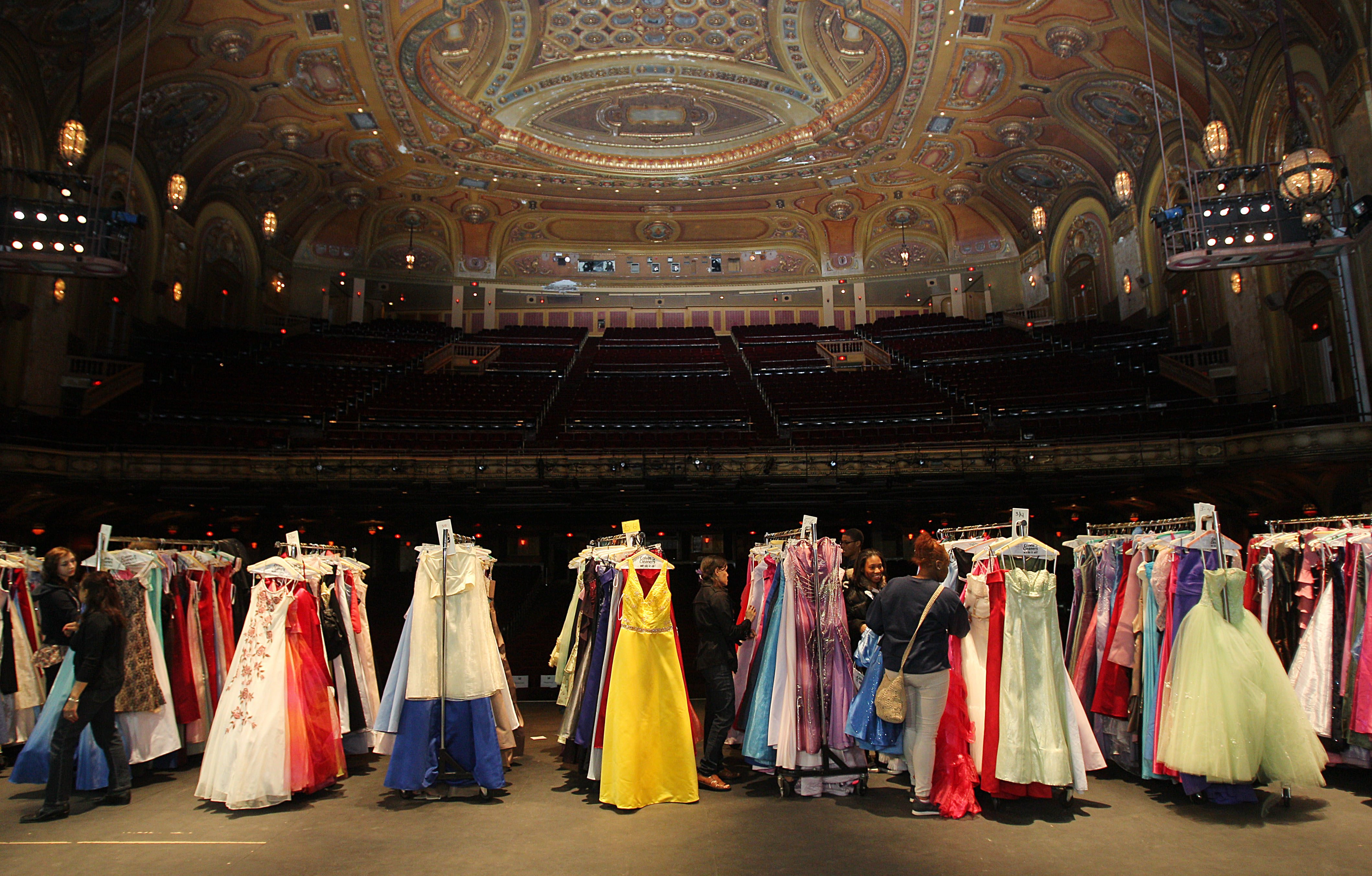 Thousands of gowns are needed for the 14th annual Gowns for Prom distribution at Shea's presented by Colvin Cleaners. (Sharon Cantillon/Buffalo News)