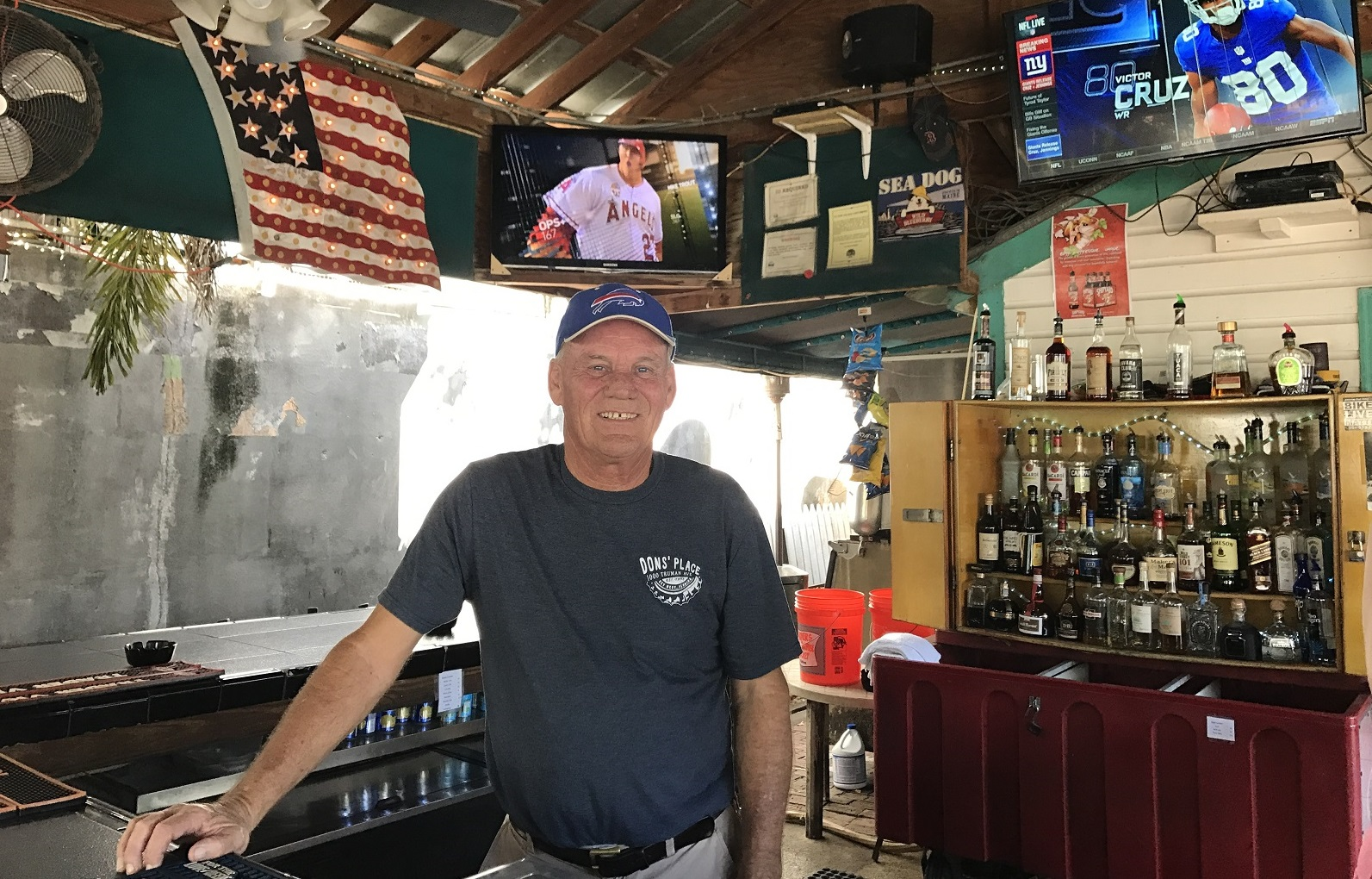 Buffalo native Don Manaher gave up his snow shovel to run a bar in Key West that now attracts Buffalo visitors as well as Key West locals. (Elizabeth Carey/Special to The News)