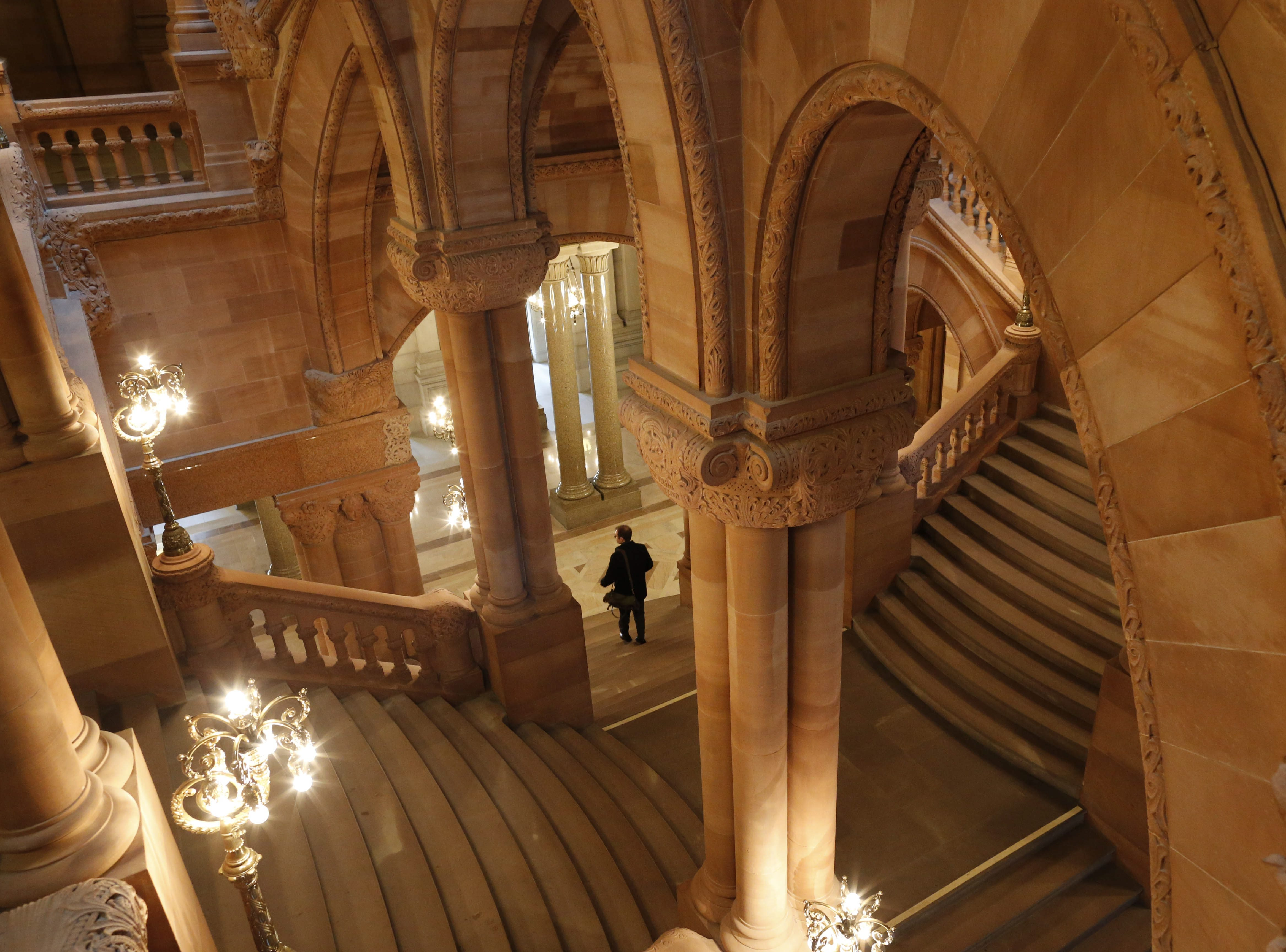 A view of the 'Million Dollar Staircase' in the New York State Capitol in Albany.  (Derek Gee/Buffalo News file photo)